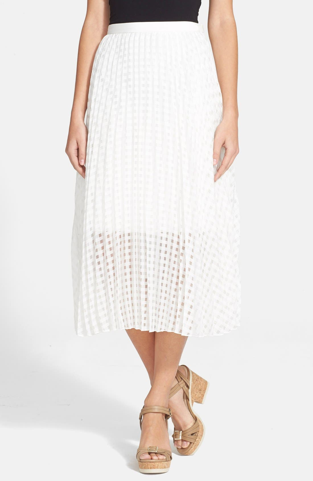 Alternate Image 1 Selected - Tibi 'Sunray' Pleated Skirt