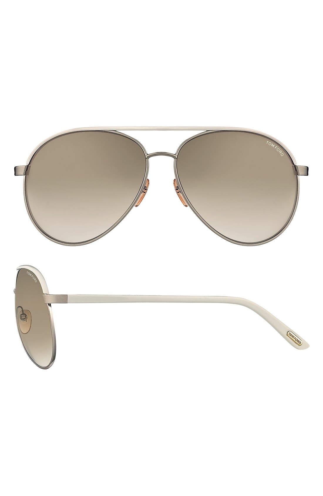 Alternate Image 1 Selected - Tom Ford 'Silvano' 59mm Polarized Sunglasses