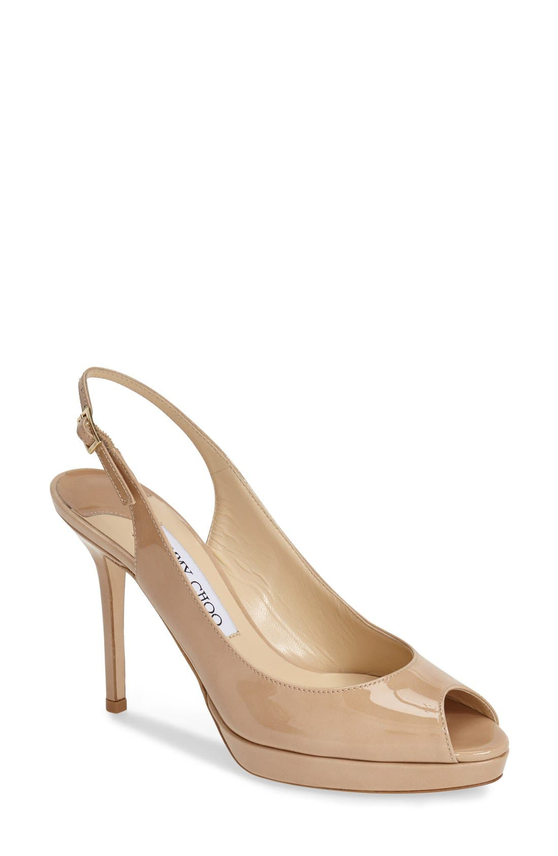 Alternate Image 1 Selected - Jimmy Choo 'Nova' Patent Leather Slingback Pump (Women)