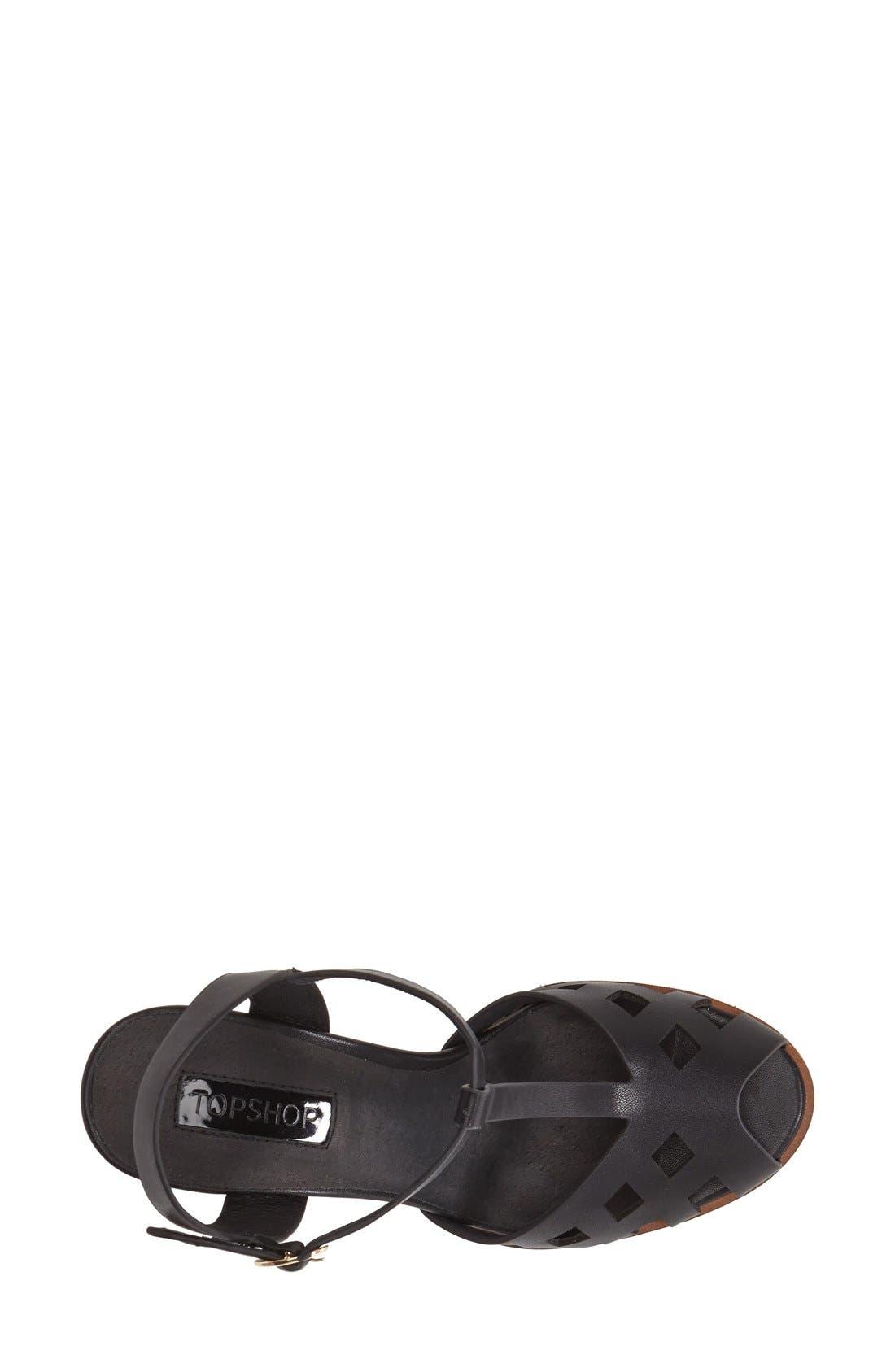 Alternate Image 3  - Topshop 'Newlywed' T-Strap Peep Toe Sandal (Women)