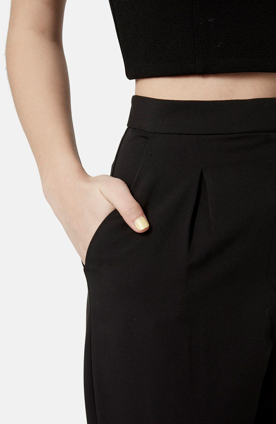 Alternate Image 3  - Topshop Notch Back Tapered Trousers