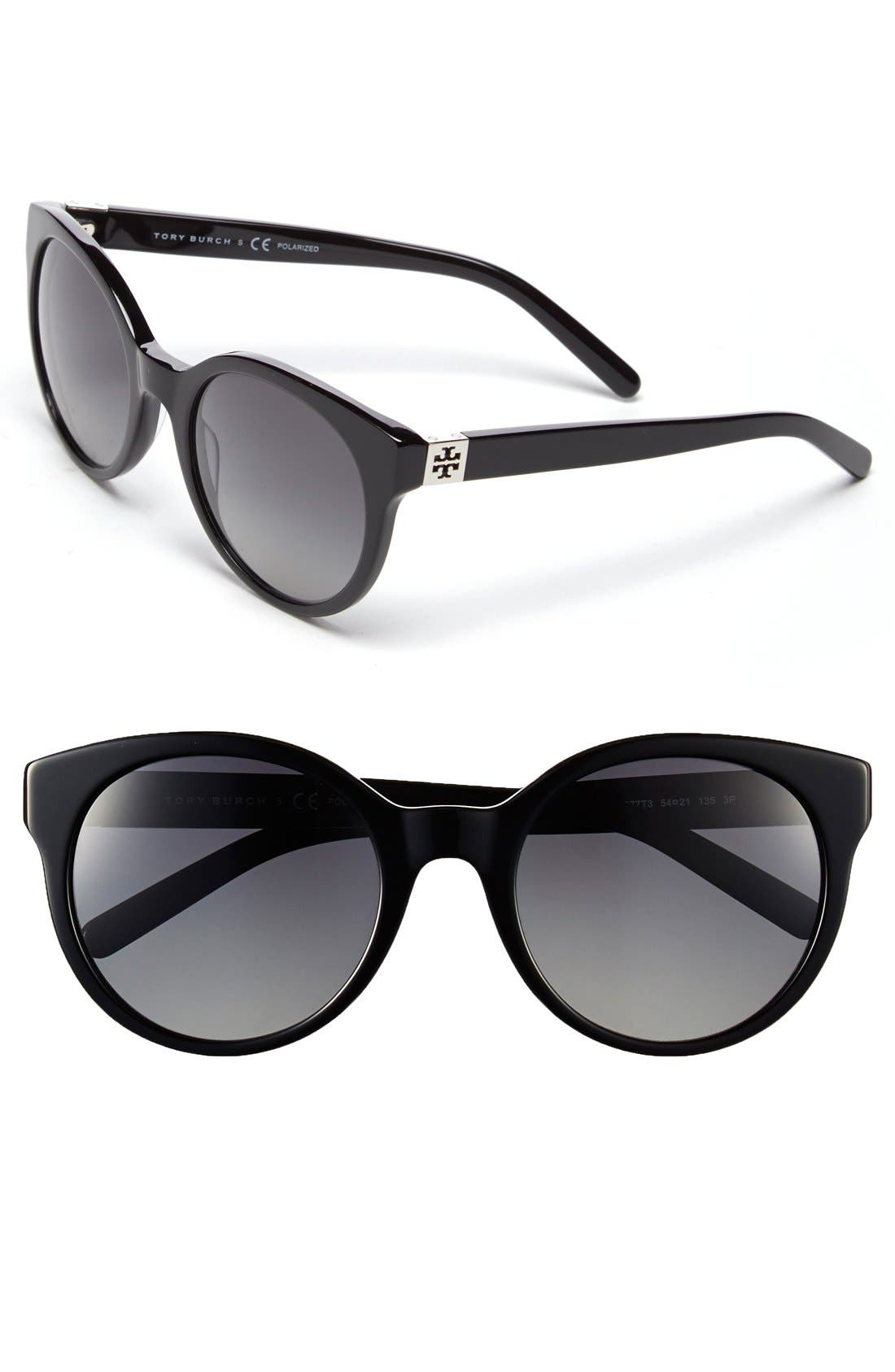 Alternate Image 1 Selected - Tory Burch 54mm Polarized Cat Eye Sunglasses (Nordstrom Exclusive)