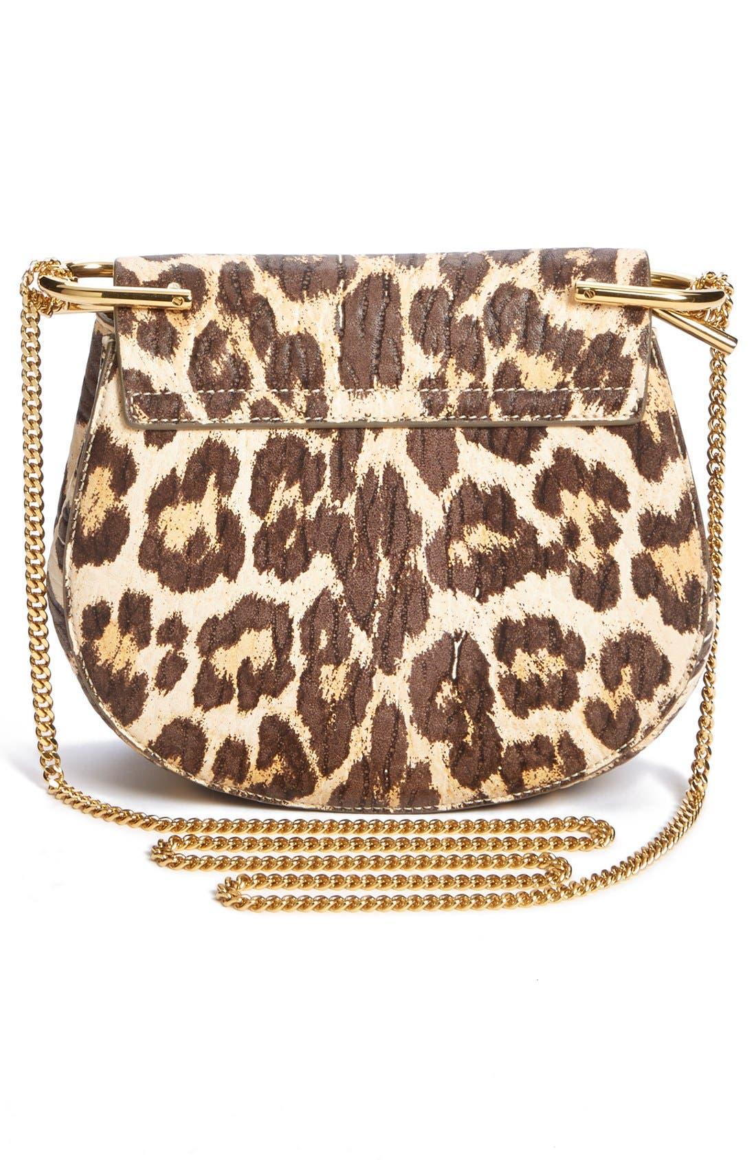 Alternate Image 2  - Chloé 'Drew' Leopard Print Leather Shoulder Bag
