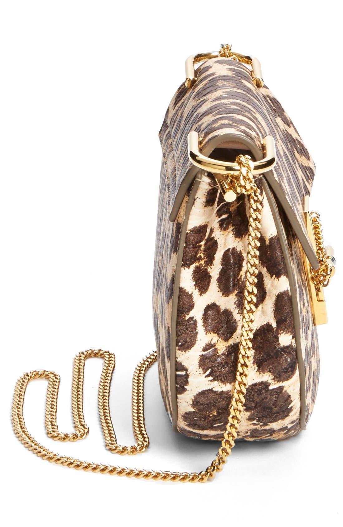 Alternate Image 4  - Chloé 'Drew' Leopard Print Leather Shoulder Bag