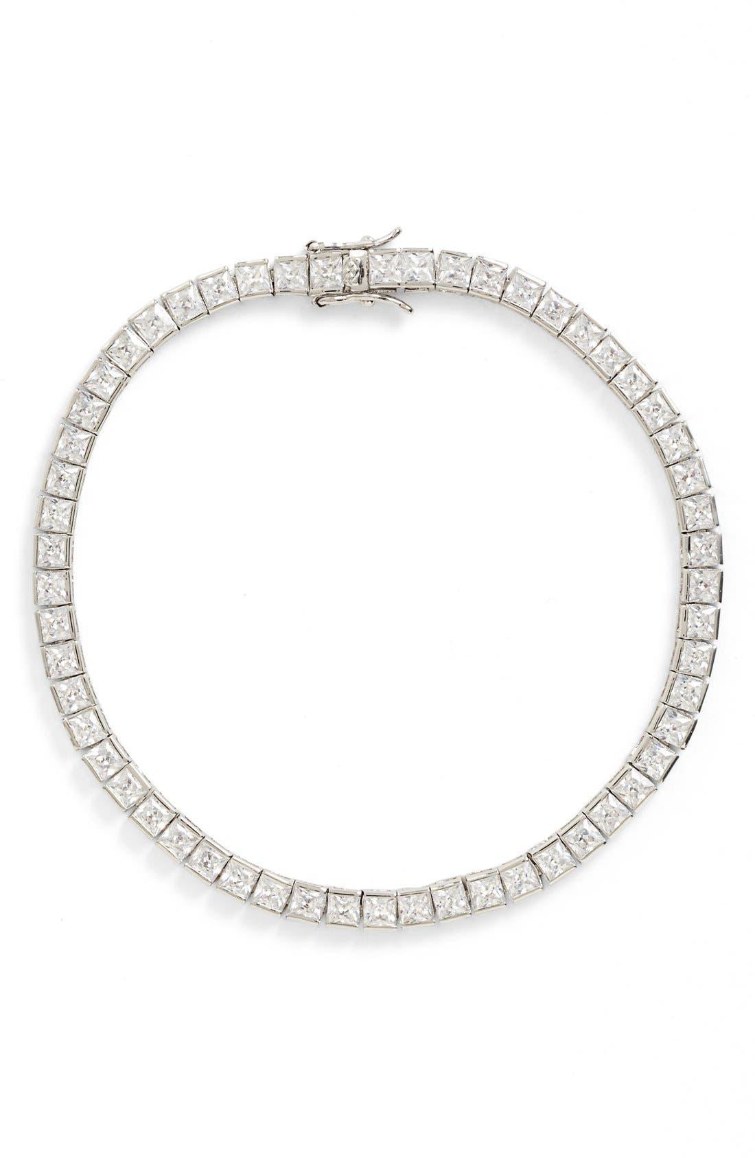 Alternate Image 1 Selected - Nina Cubic Zirconia Tennis Bracelet