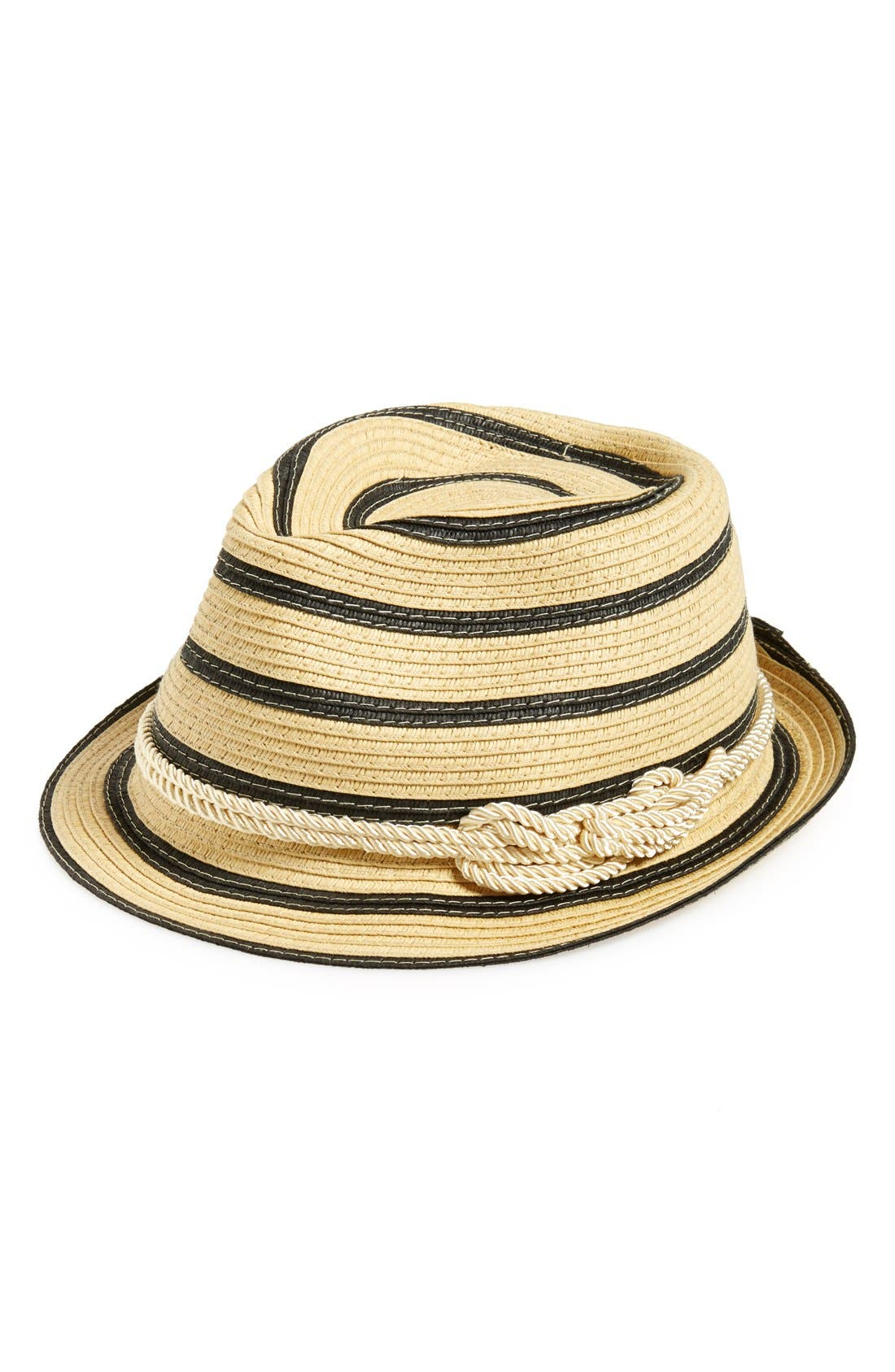 Alternate Image 1 Selected - Sole Society Woven Stripe Fedora