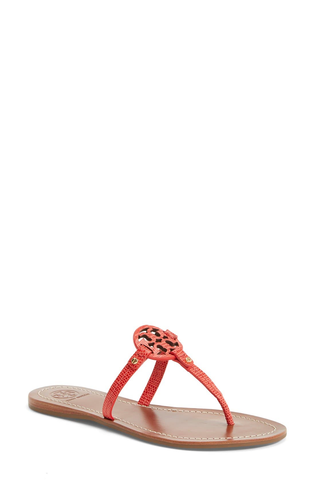 Alternate Image 1 Selected - Tory Burch 'Mini Miller' Leather Thong Sandal (Women)