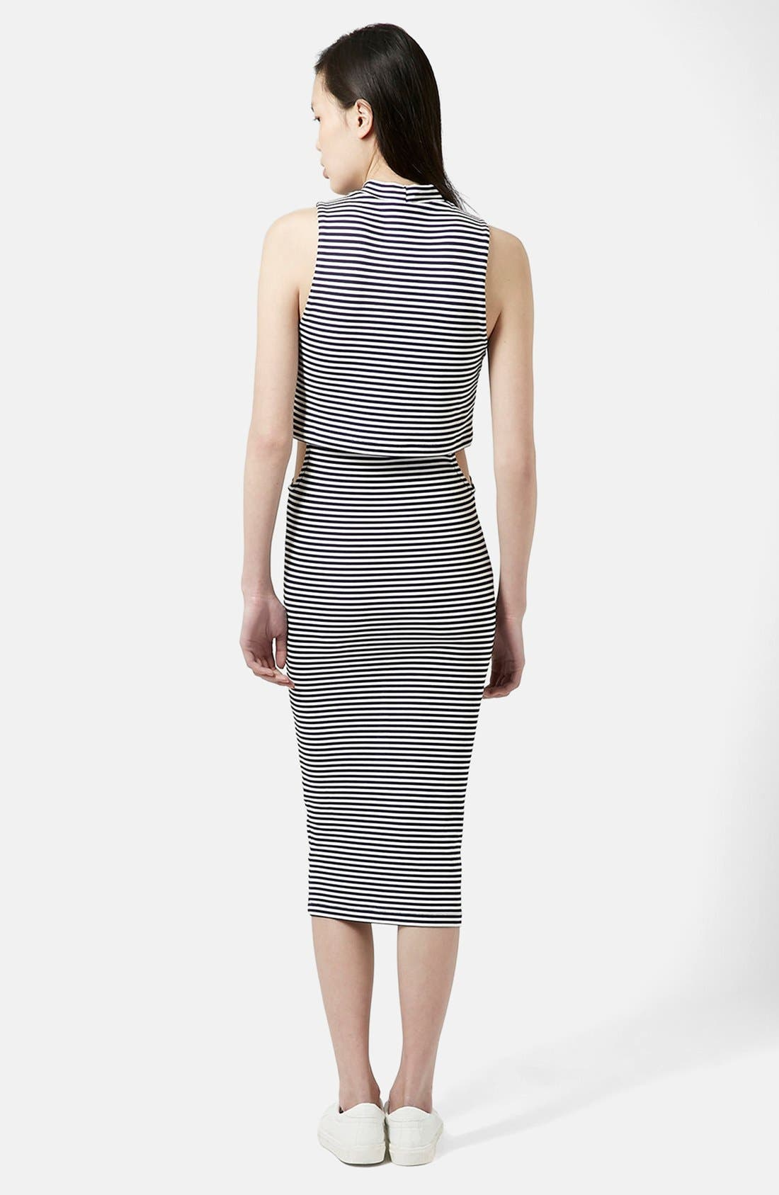 Alternate Image 2  - Topshop Cutout Midi Dress