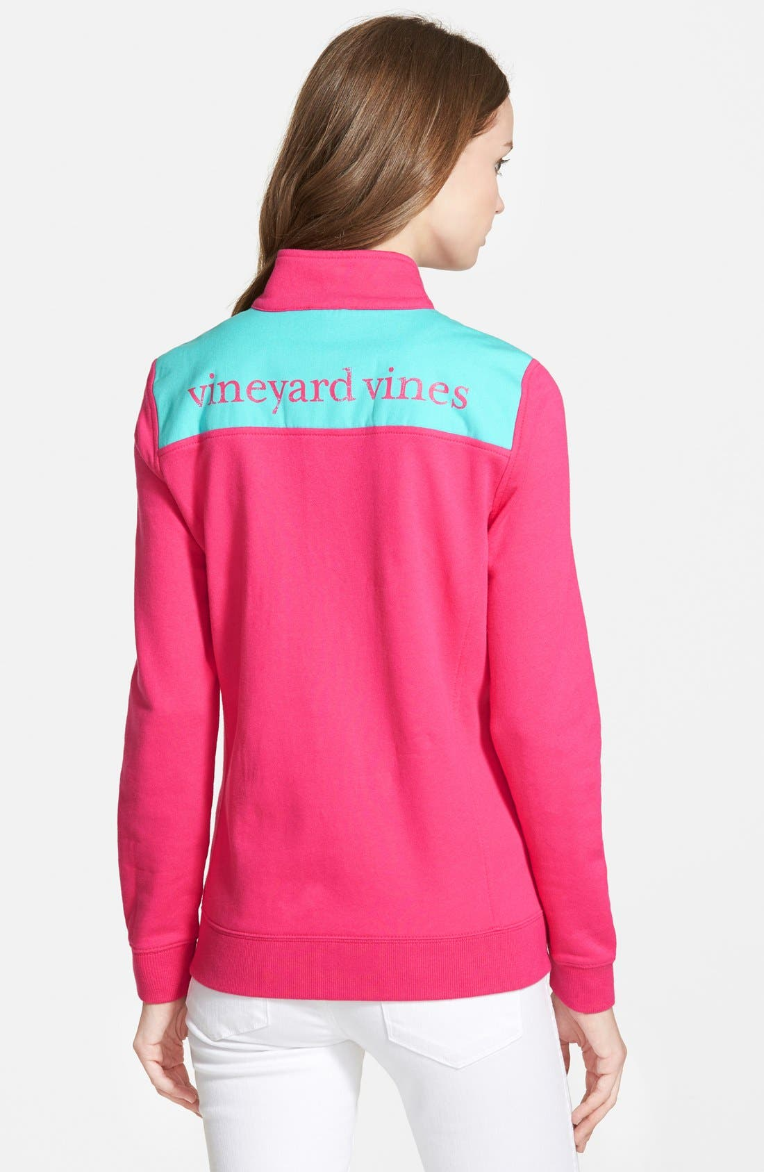 Alternate Image 2  - Vineyard Vines 'Shep' Logo Quarter Zip Pullover