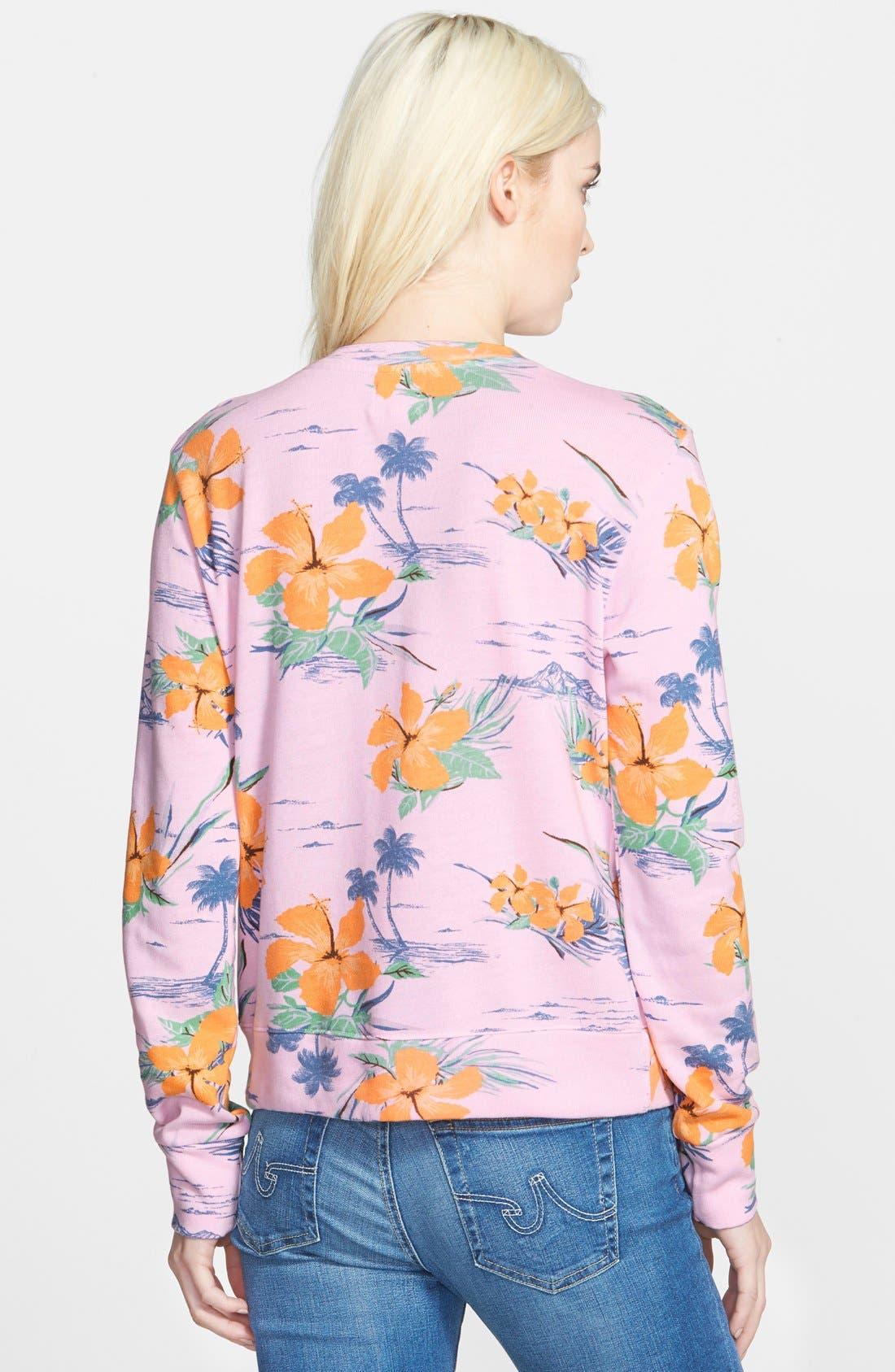 Alternate Image 2  - Sundry Floral Print Sweatshirt