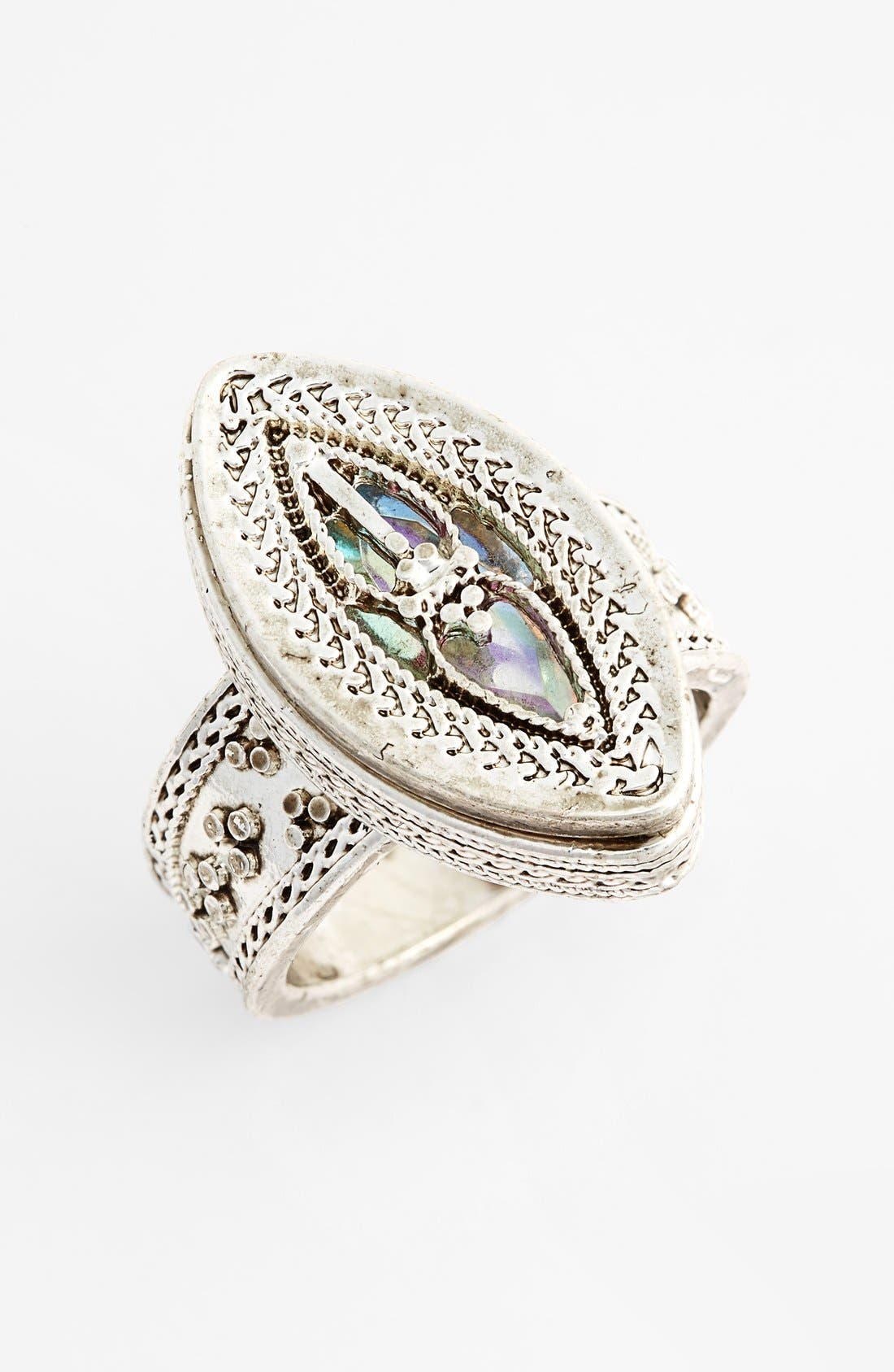 Alternate Image 1 Selected - Topshop Etched Mystical Ring