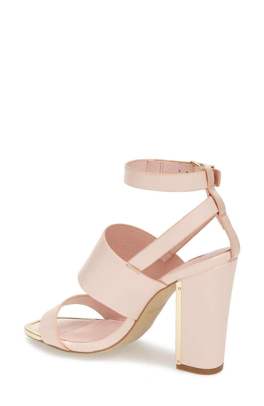 Alternate Image 2  - Topshop 'Riot' Lizard Embossed Ankle Strap Sandals (Women)