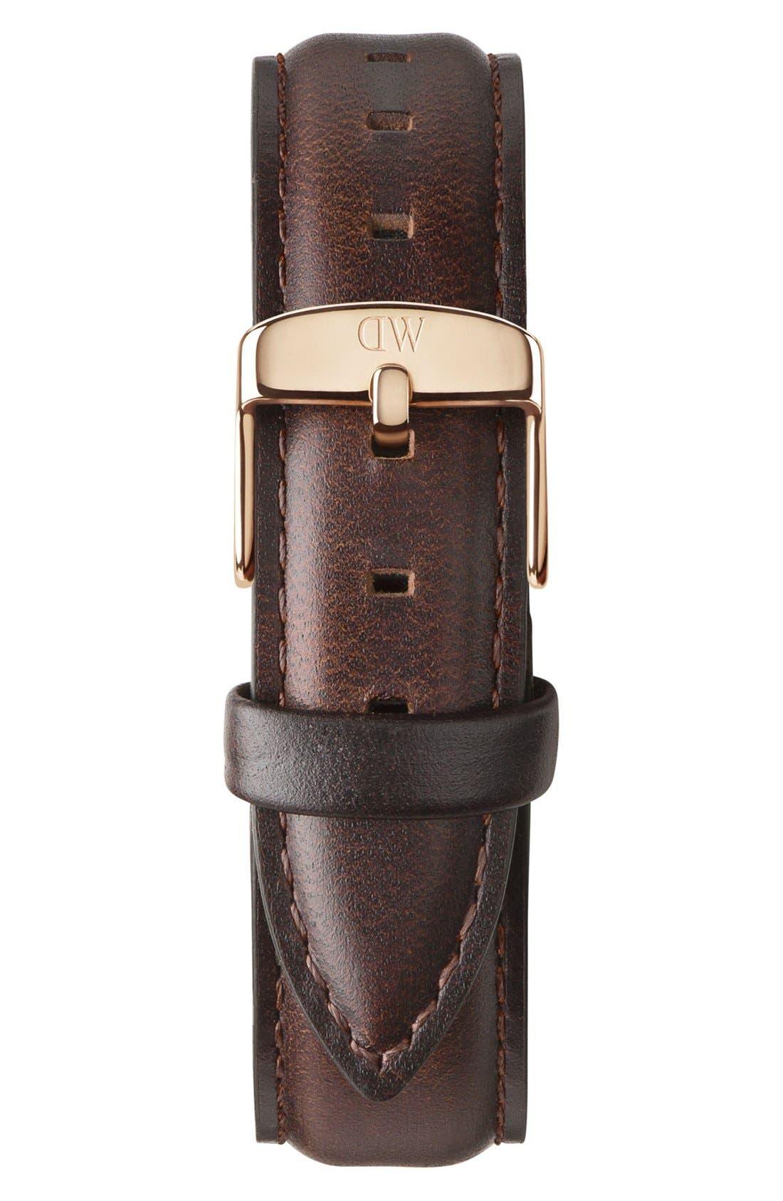 Alternate Image 2  - Daniel Wellington 'Classic Bristol' Round Leather Strap Watch, 36mm