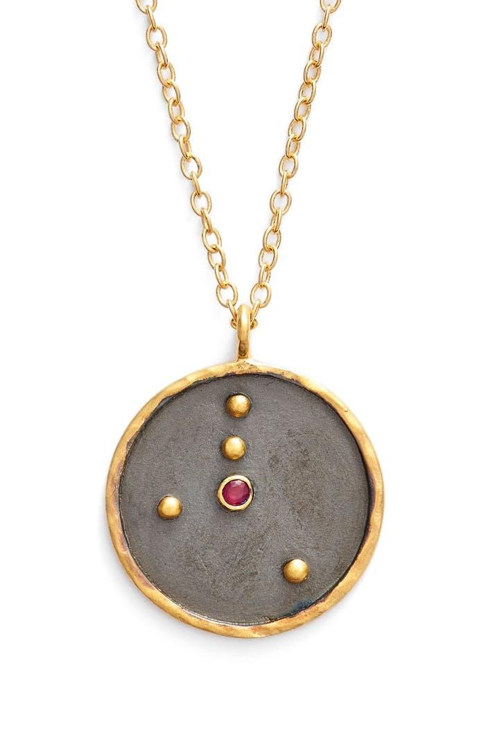 Satya Jewelry Reversible Constellation Pendant Necklace