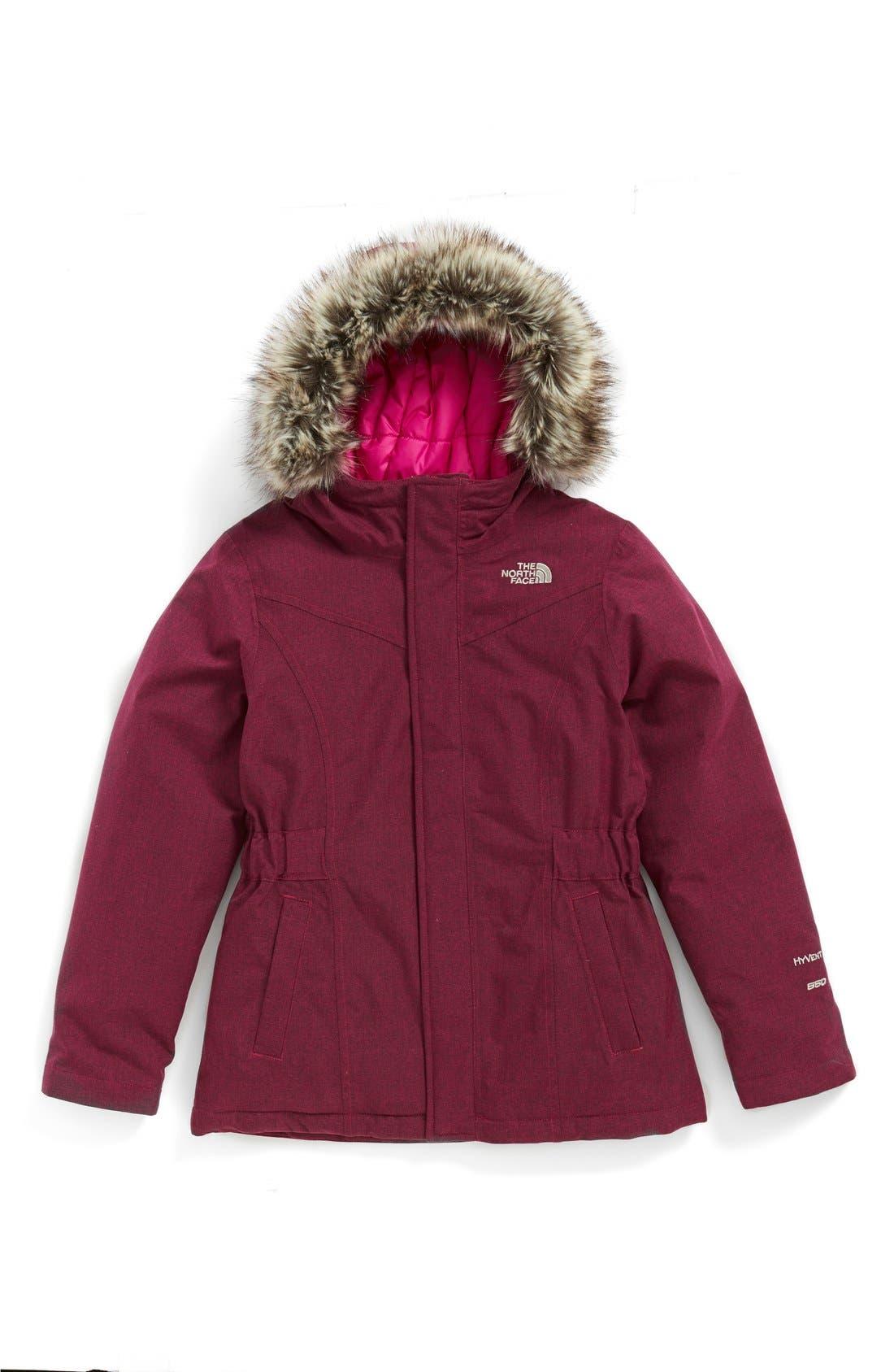 Main Image - The North Face 'Greenland' Waterproof Down Jacket (Big Girls)