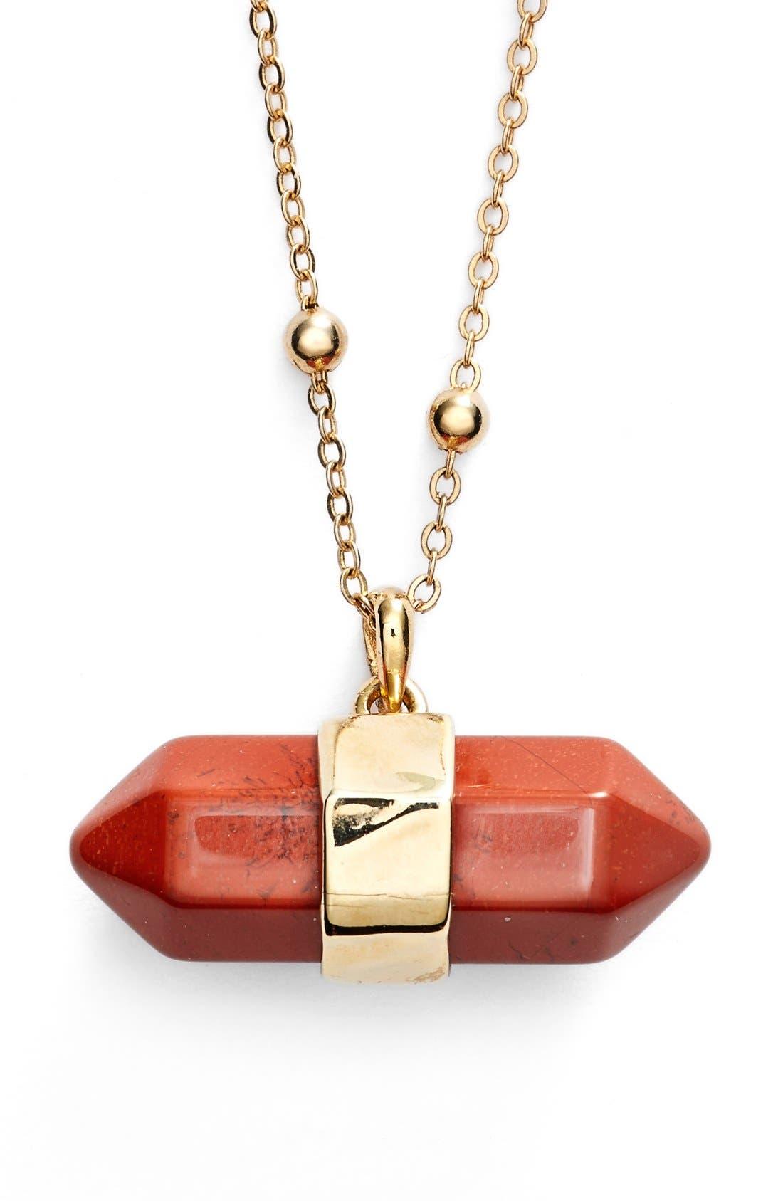 Alternate Image 1 Selected - Nordstrom Semiprecious Stone Pendant Necklace