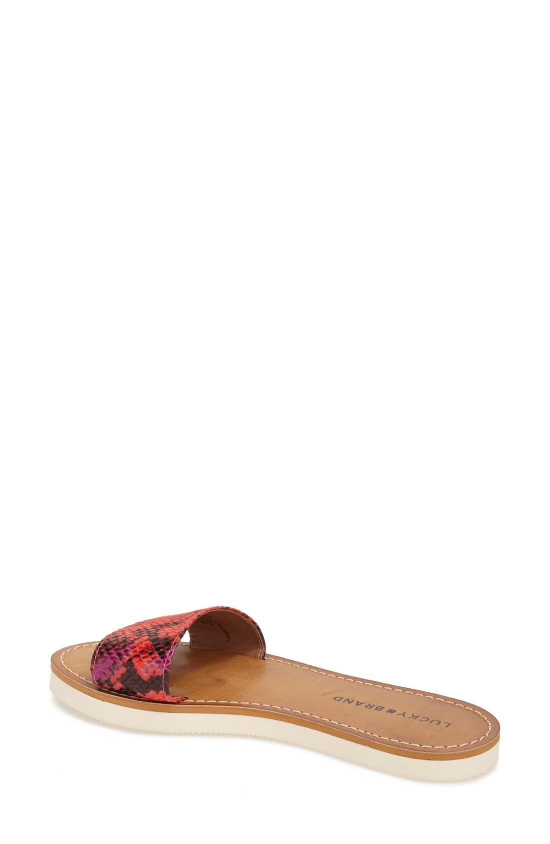Alternate Image 2  - Lucky Brand 'Deldonna' Slide Sandal (Women)