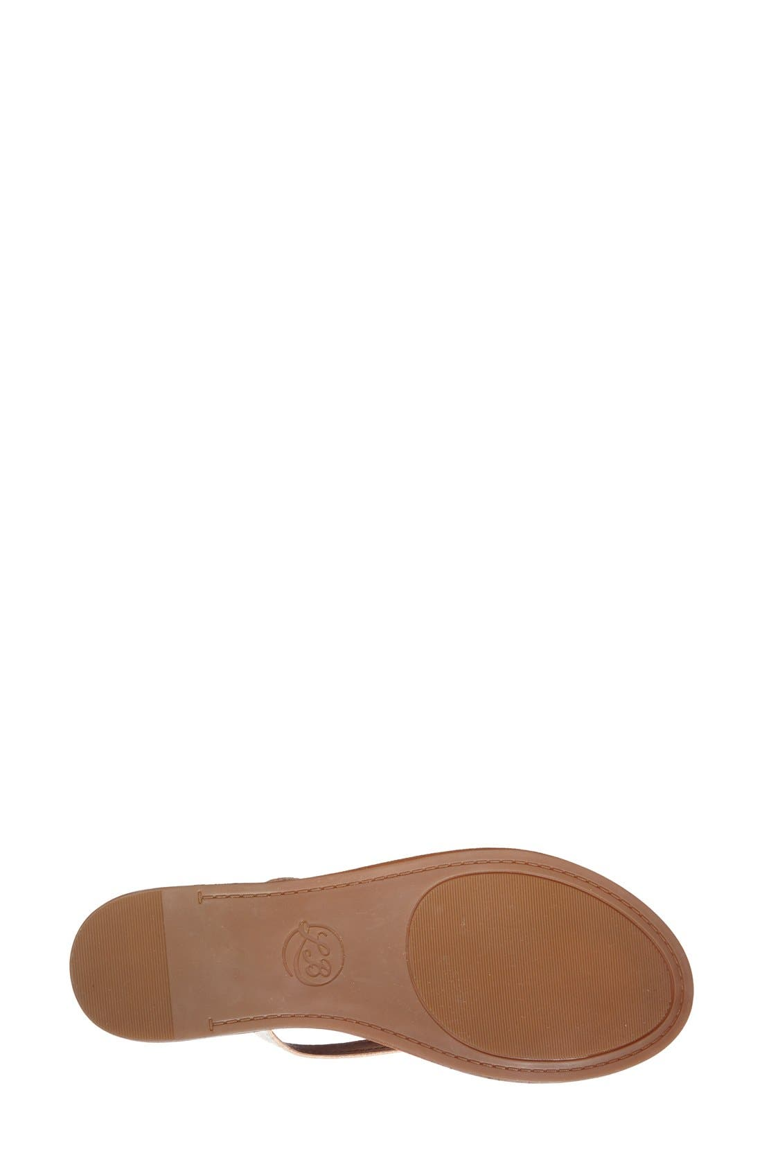 Alternate Image 4  - Lucky Brand 'Amberr' Leather Thong Sandal (Women)