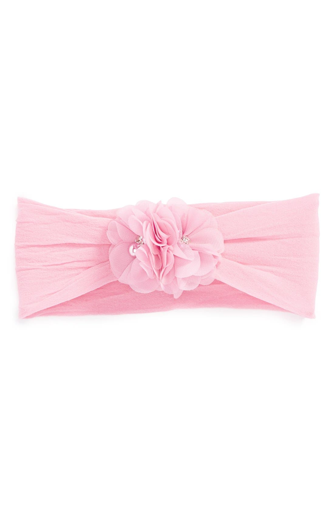 Main Image - Baby Bling Chiffon Bouquet Headband (Baby Girls)