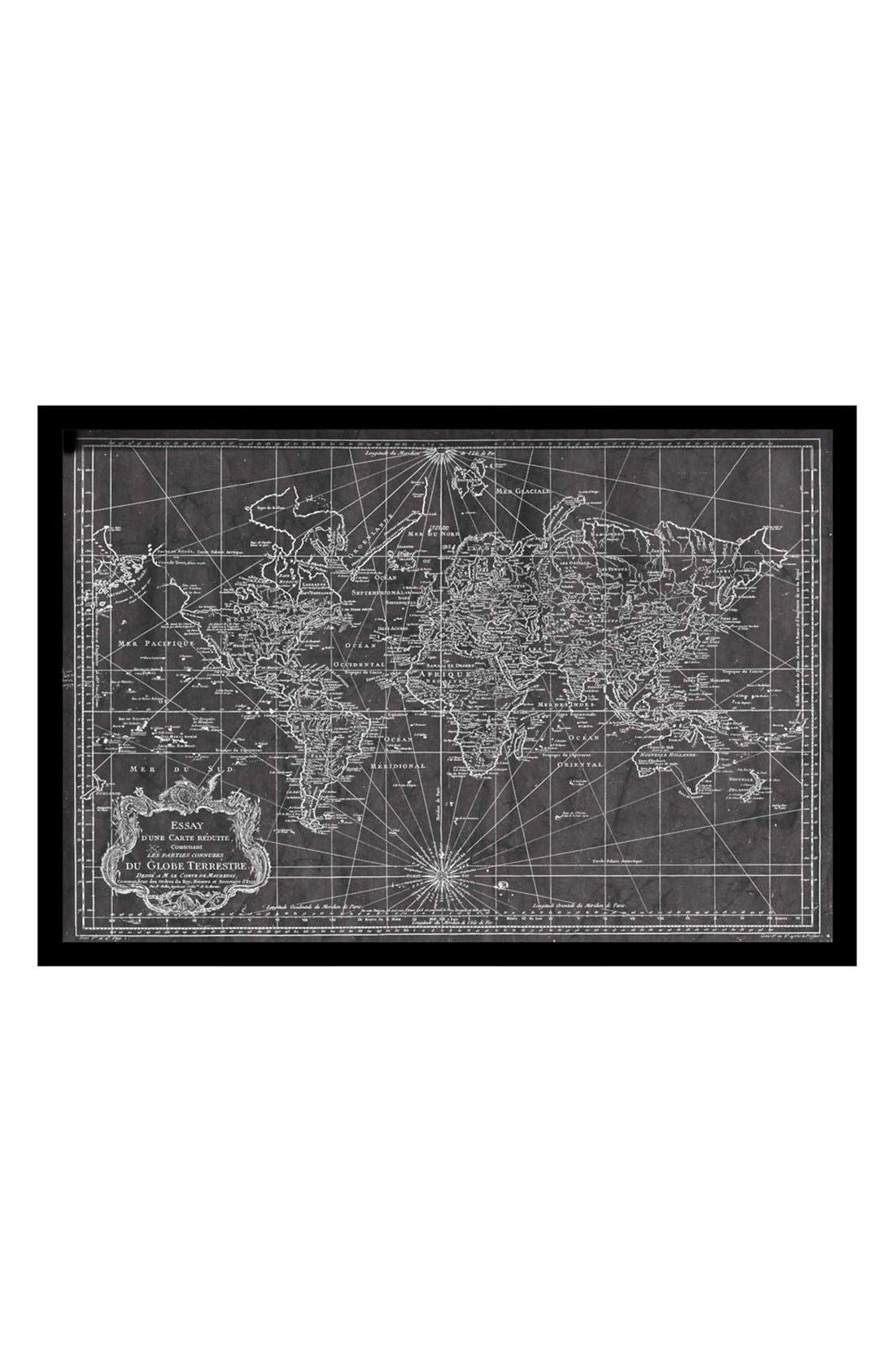 Alternate Image 1 Selected - Oliver Gal 'World Map 1778' Framed Art Print