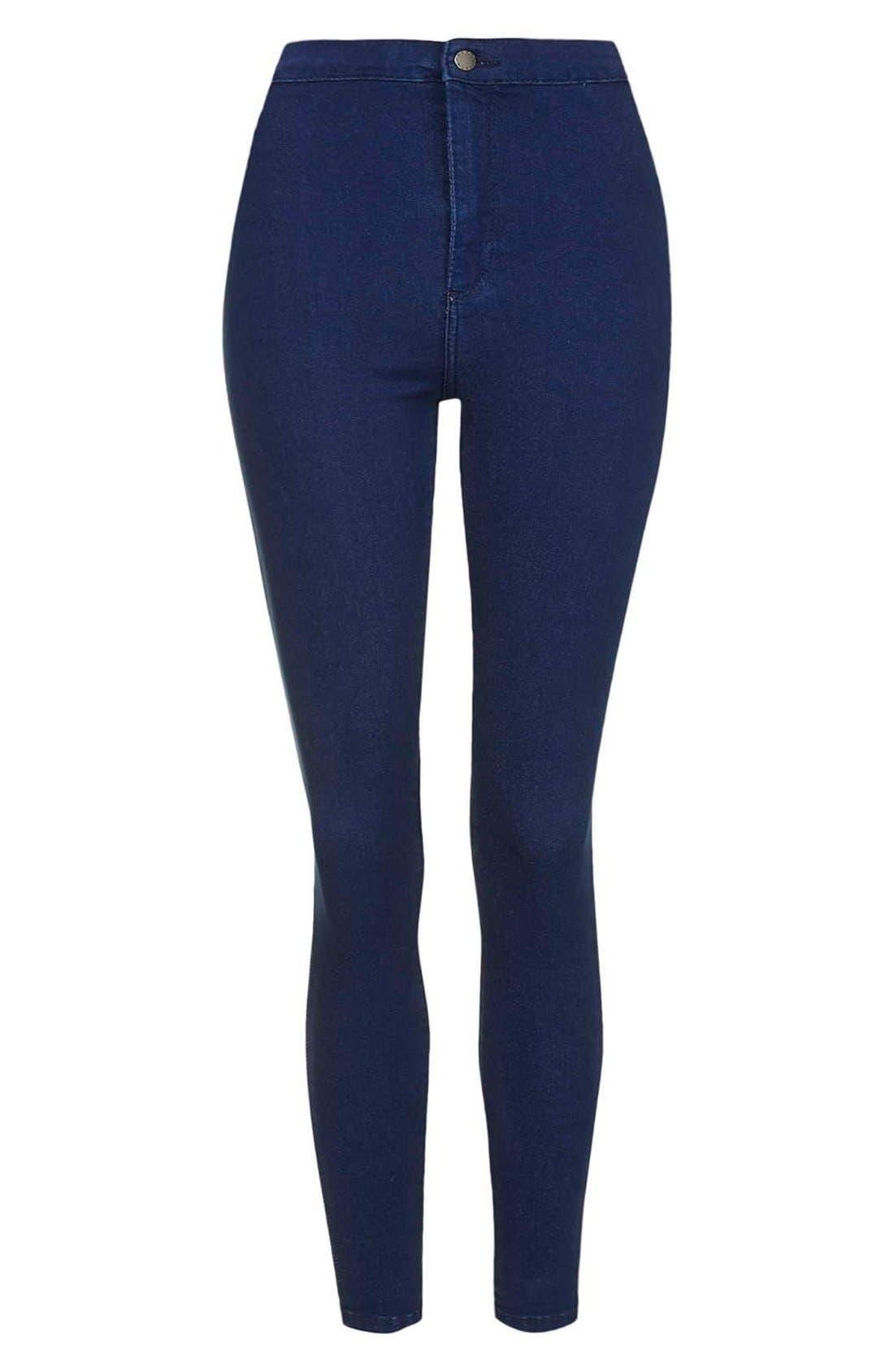 Alternate Image 3  - Topshop Moto 'Joni' Ankle Skinny Jeans (Bright Blue) (Petite)