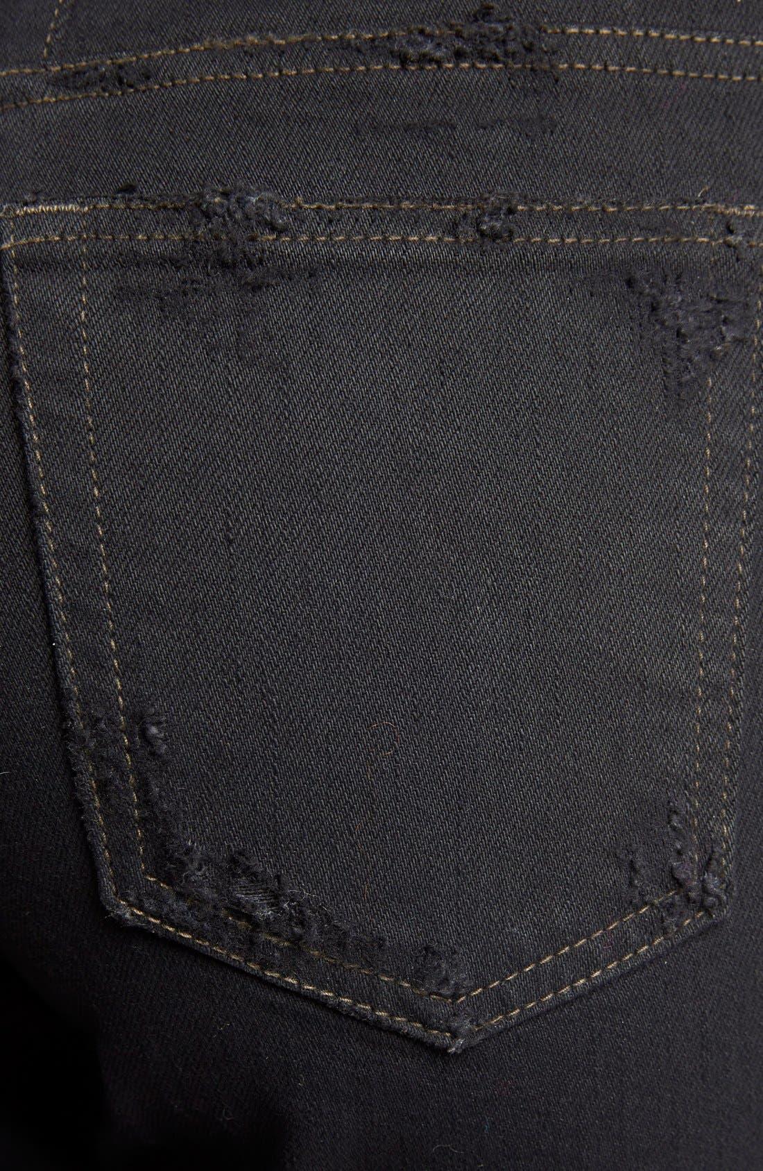 Alternate Image 3  - Saint Laurent Destroyed Skinny Jeans