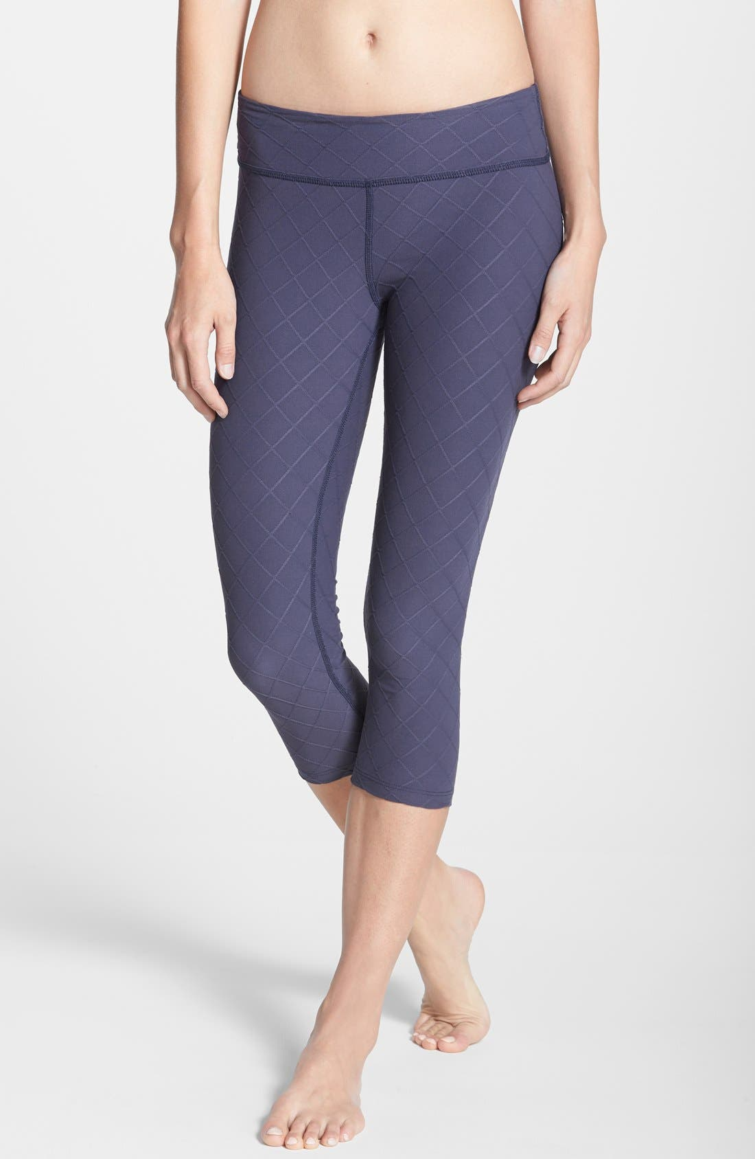 Main Image - Beyond Yoga 'Essential' Quilted Capri Leggings