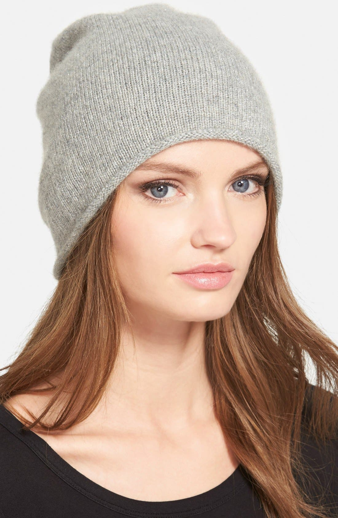 Alternate Image 1 Selected - Halogen® Metallic Cashmere Blend Beanie