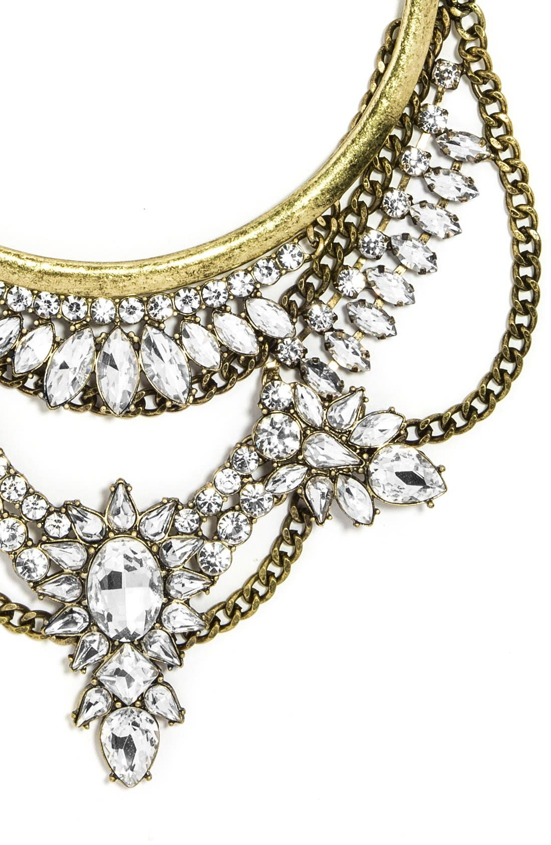 Alternate Image 2  - BaubleBar 'Crystal Grendel' Bib Necklace