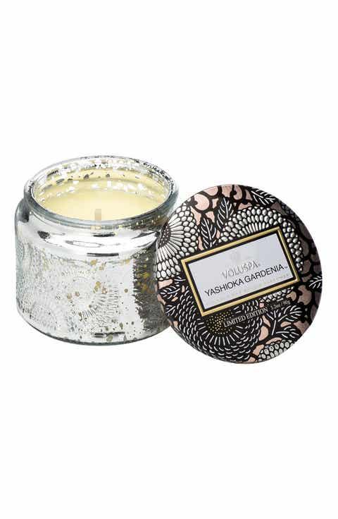 Voluspa 'Japonica - Yashioka Gardenia' Petite Embossed Glass Jar Candle (Limited Edition)