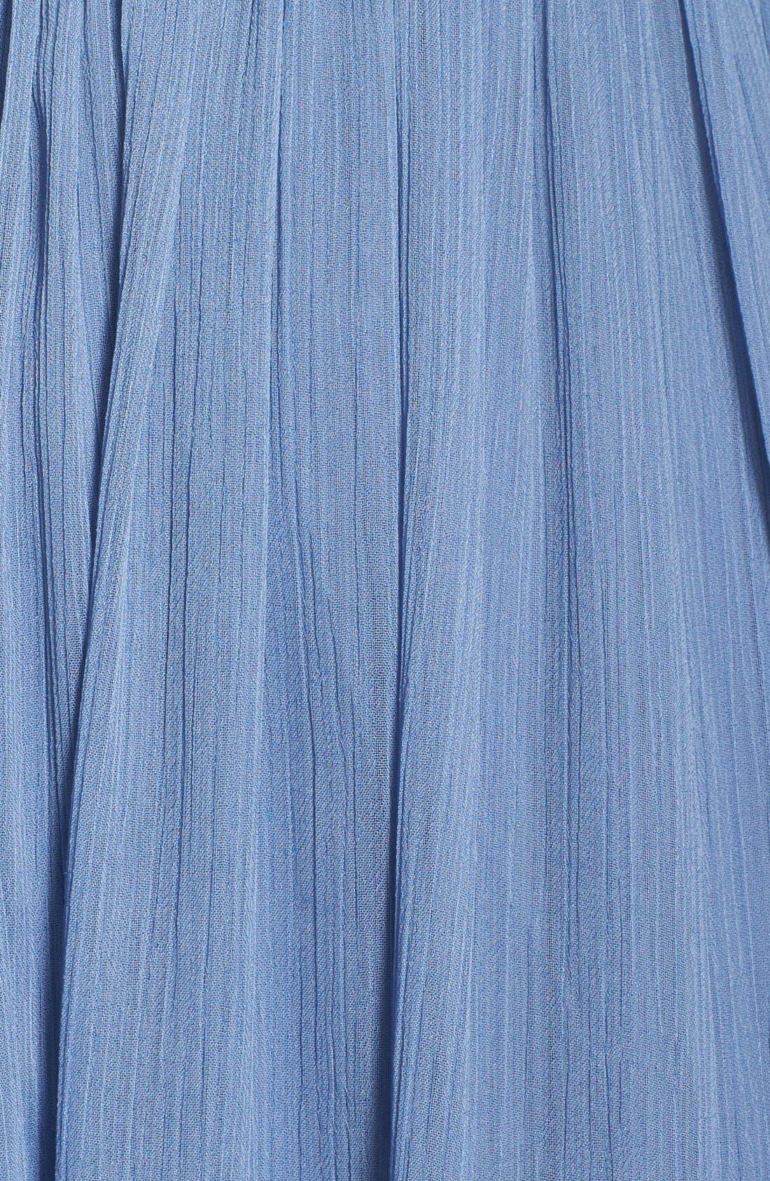 Alternate Image 3  - Vera Wang Gathered Chiffon Gown