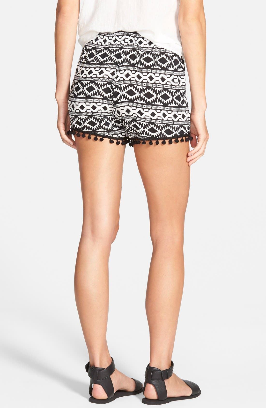 Alternate Image 2  - Vigoss 'Pom Pom' Geo Print Shorts