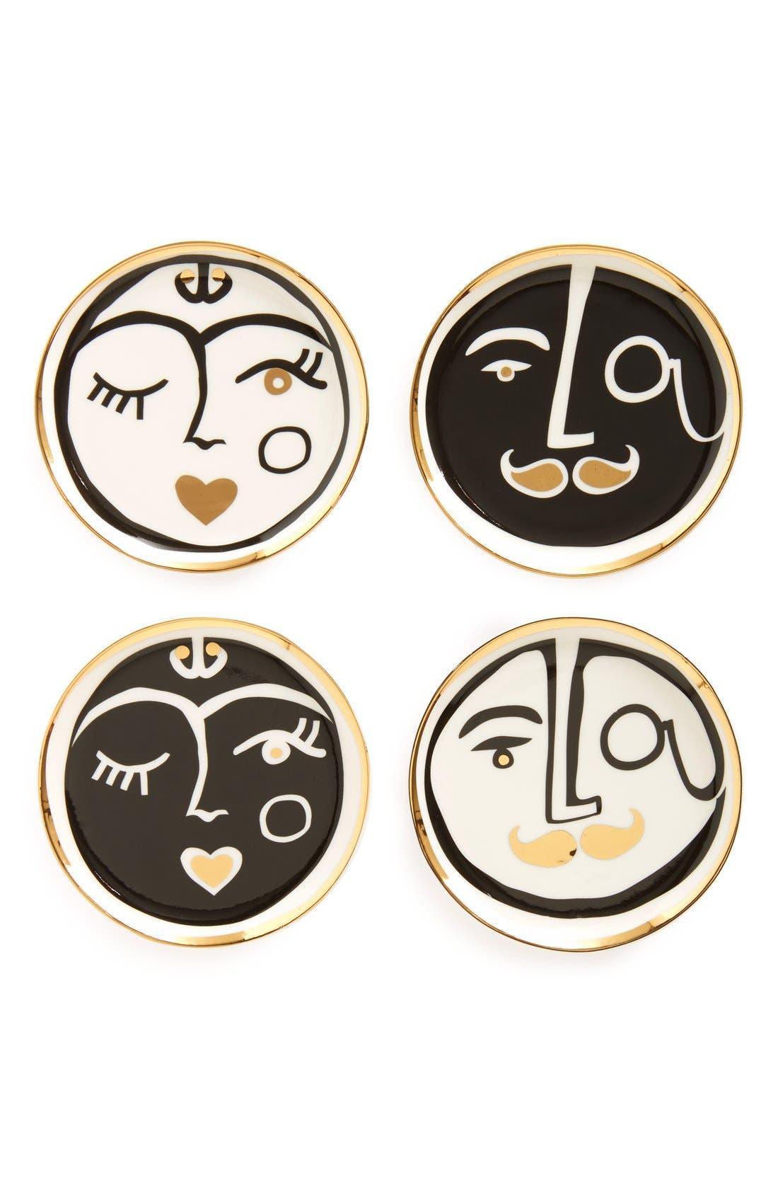 Main Image - Jonathan Adler 'Marseilles' Porcelain Coasters (Set of 4)