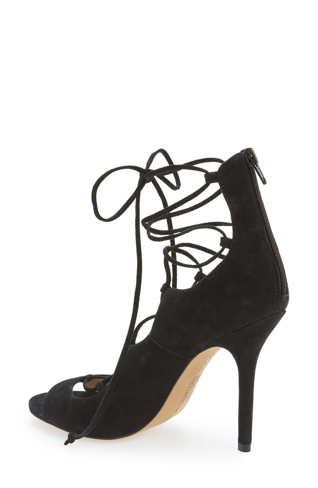 Alternate Image 2  - Vince Camuto 'Sandria' Peep Toe Ghillie Sandal (Women) (Nordstrom Exclusive)