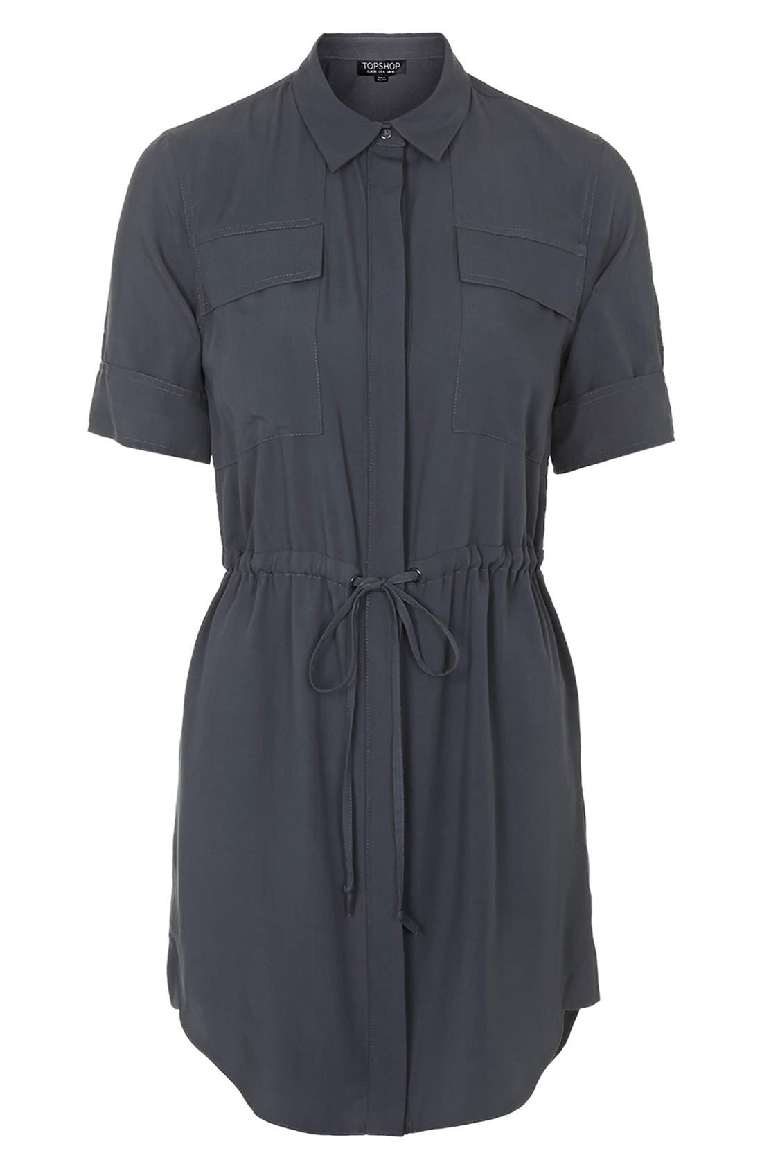 Alternate Image 3  - Topshop Utility Drawstring Dress