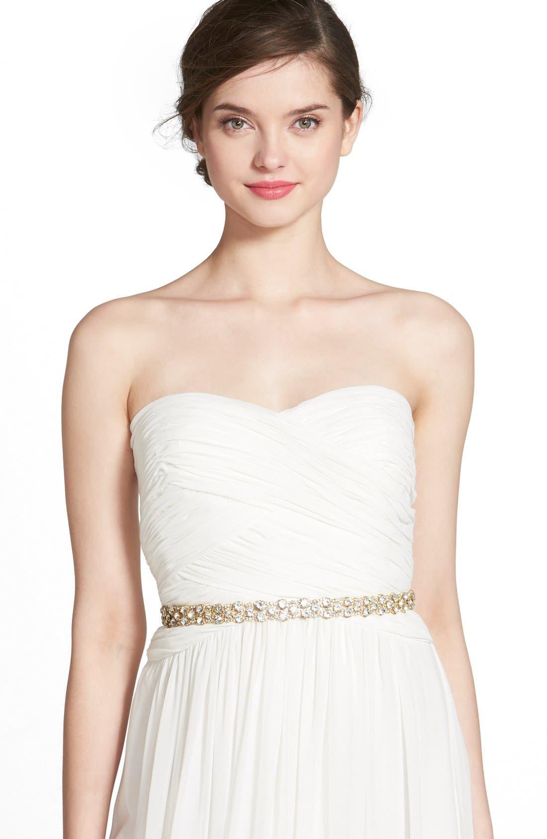 Main Image - Nina 'Onasis' Single Row Crystal Sash Belt