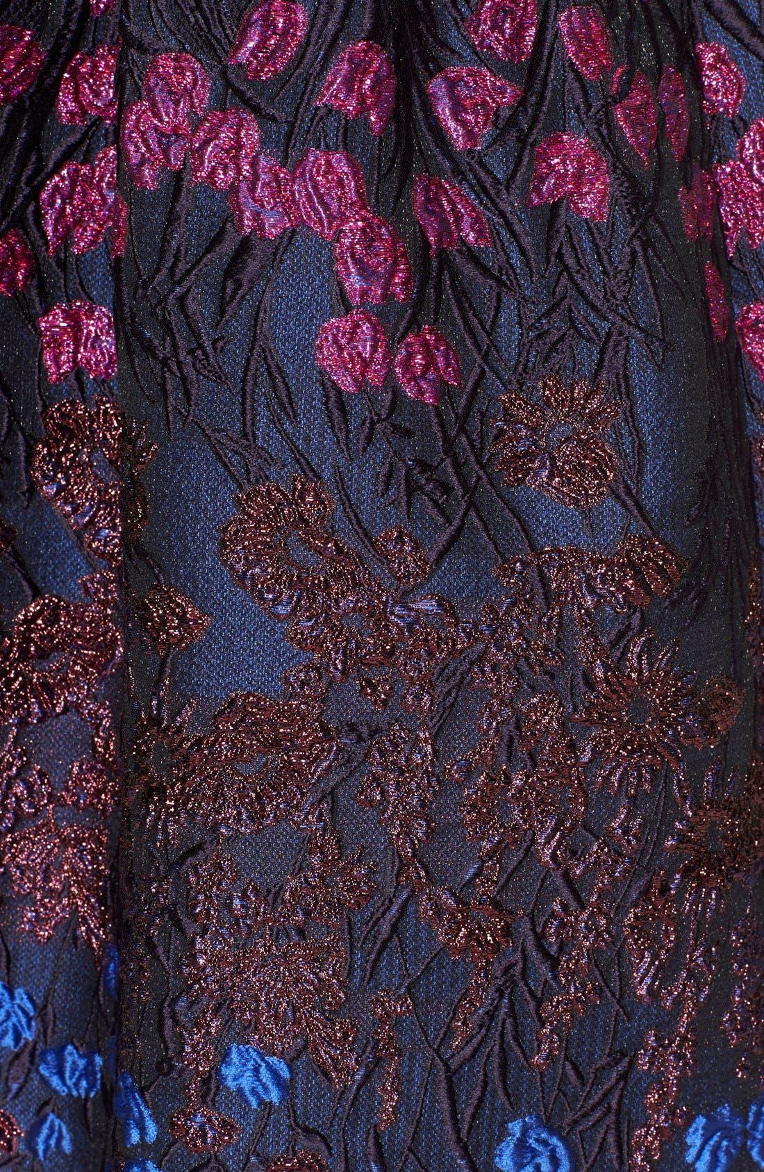Alternate Image 3  - Lela Rose Floral Fil Coupé Fit & Flare Dress