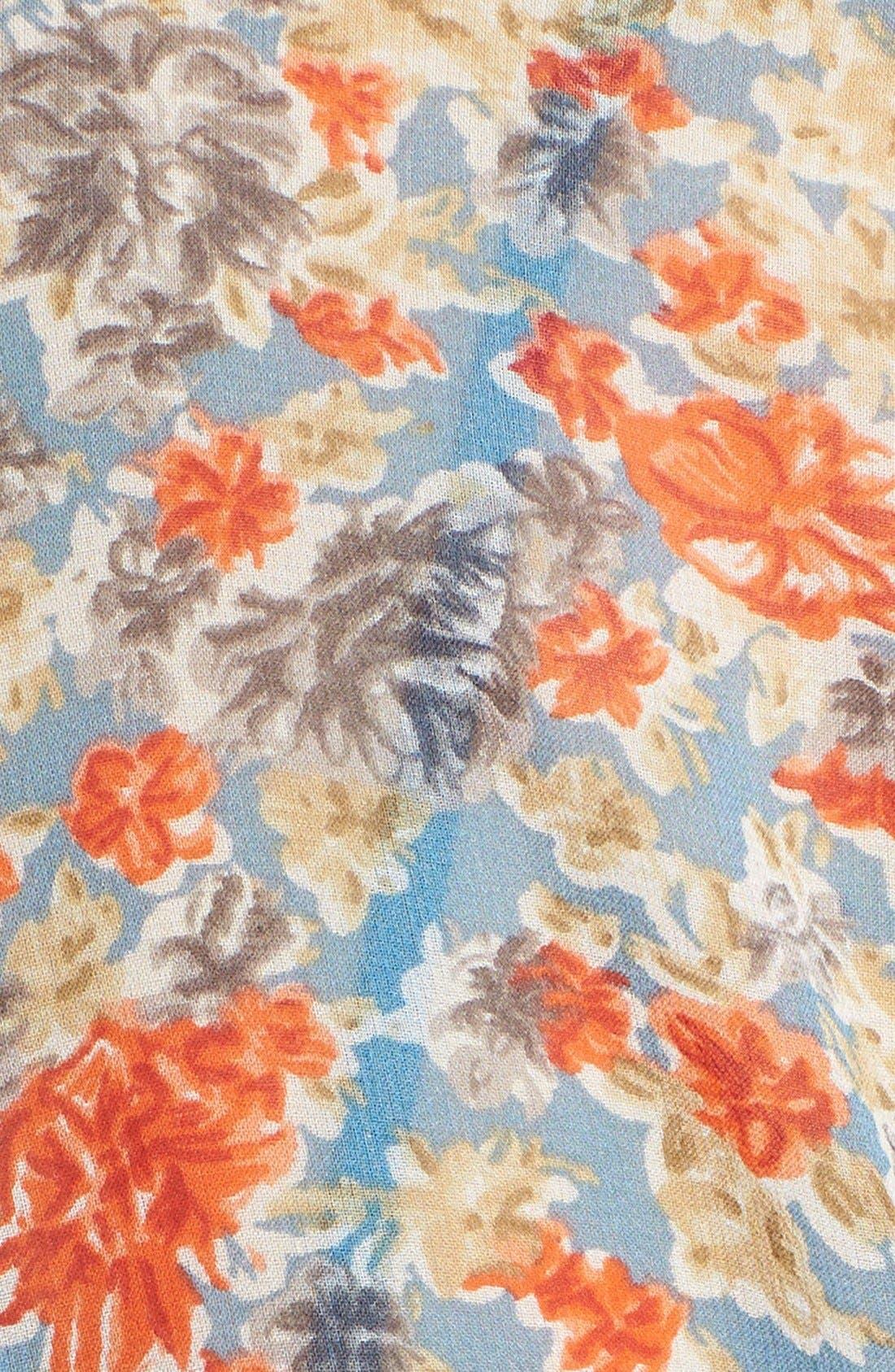 Alternate Image 3  - Joie 'Pasclina' Floral Print Silk Midi Dress