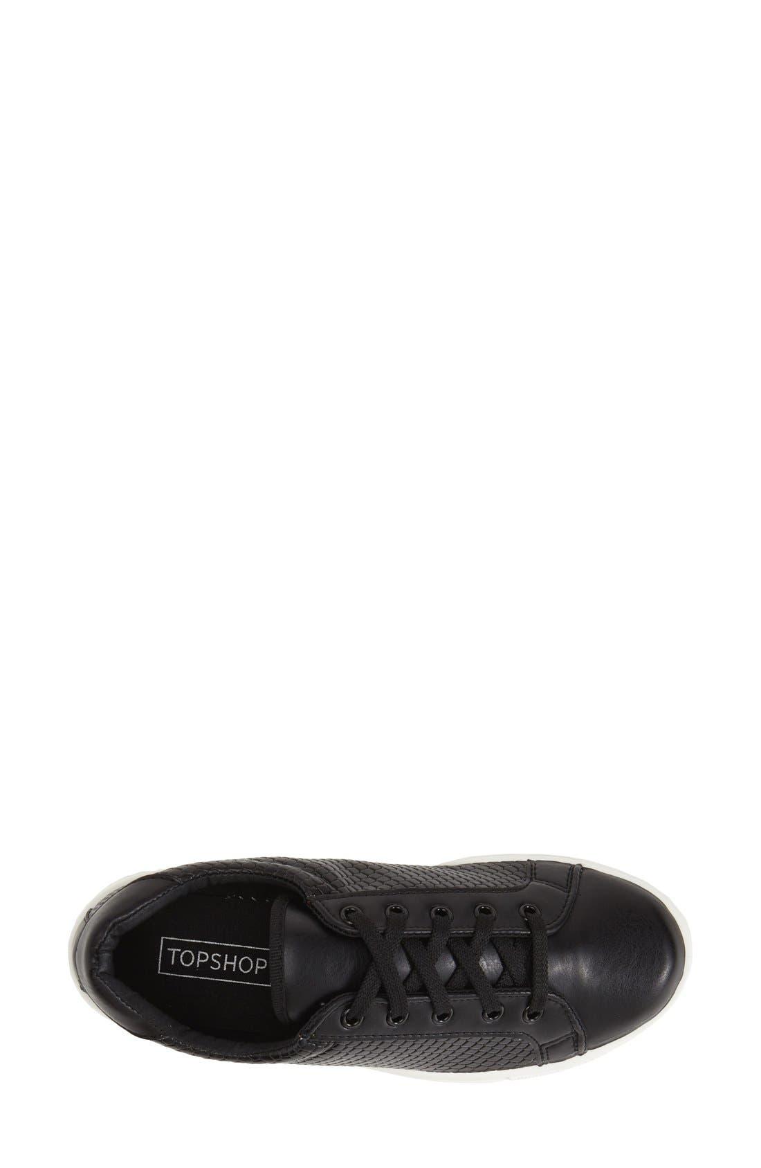 Alternate Image 4  - Topshop 'Copenhagen' Lizard Embossed Faux Leather Sneaker (Women)