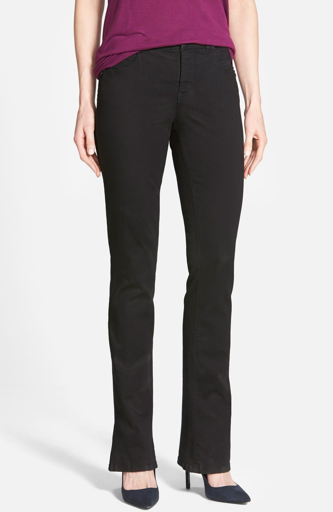 Wit & Wisdom 'Absolution' Itty Bitty Bootcut Jeans (Black) (Nordstrom Online Exclusive)