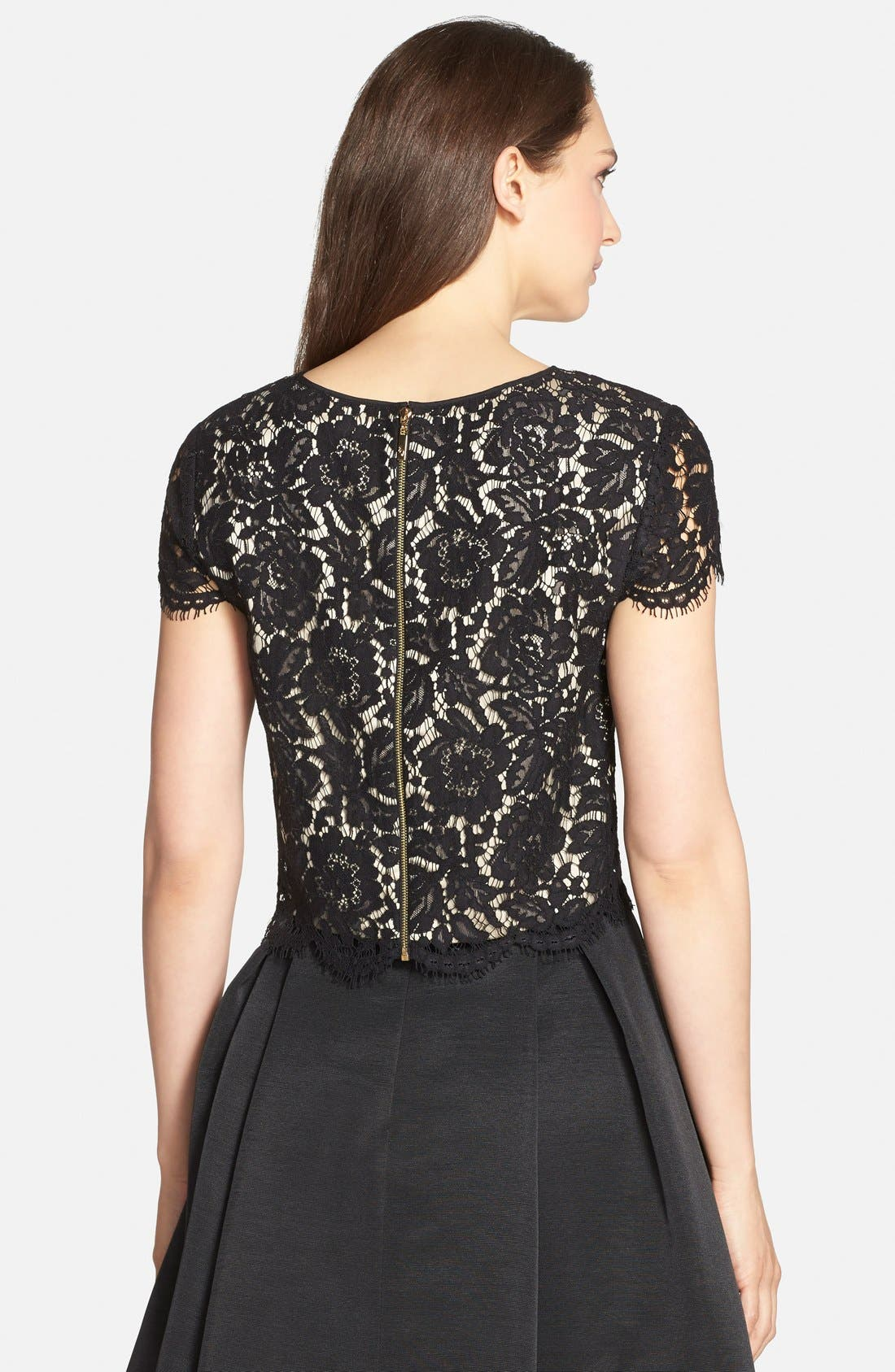 Alternate Image 2  - Eliza J Lace Cap Sleeve Top
