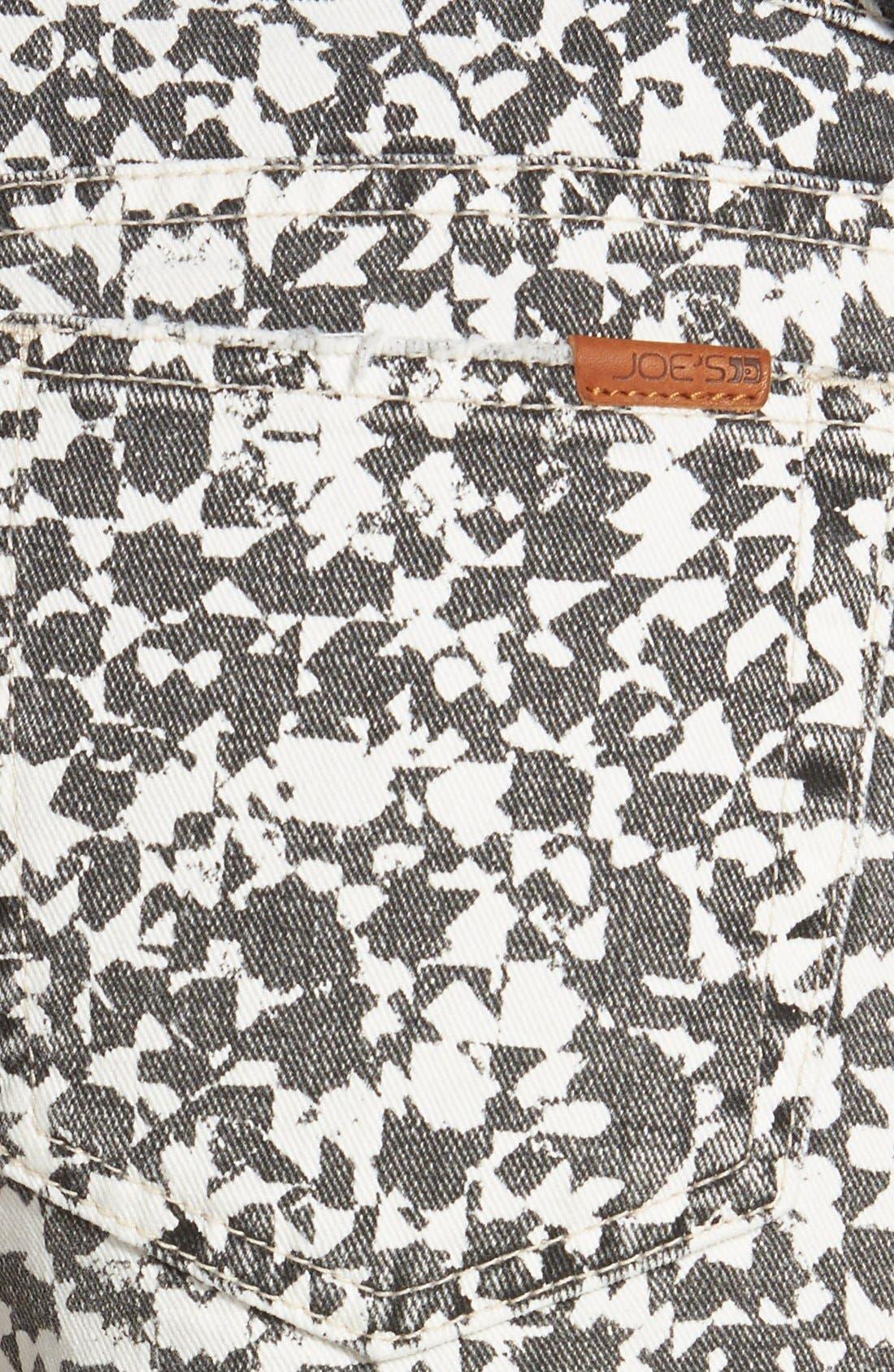Alternate Image 3  - Joe's Cutoff Denim Shorts (Mosaic Print)