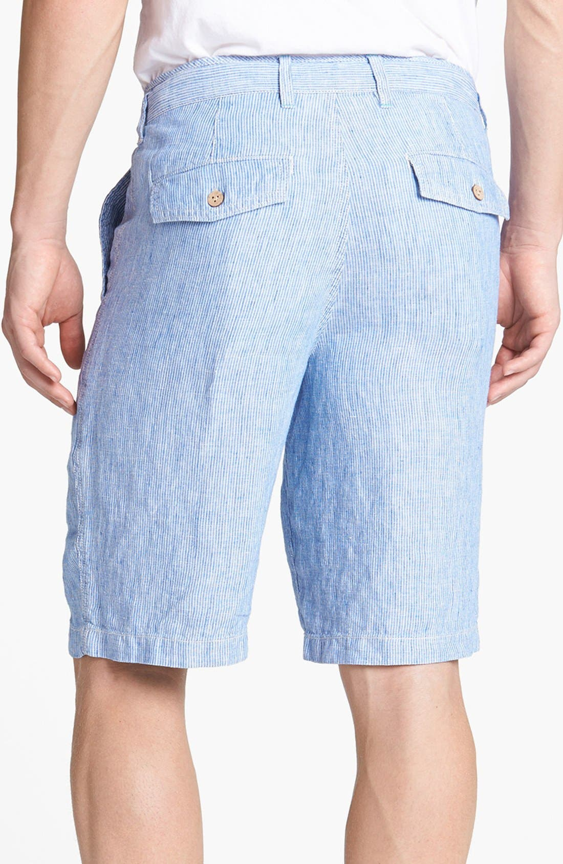 Alternate Image 2  - Tommy Bahama 'Line of the Times' Relaxed Fit Striped Linen Shorts