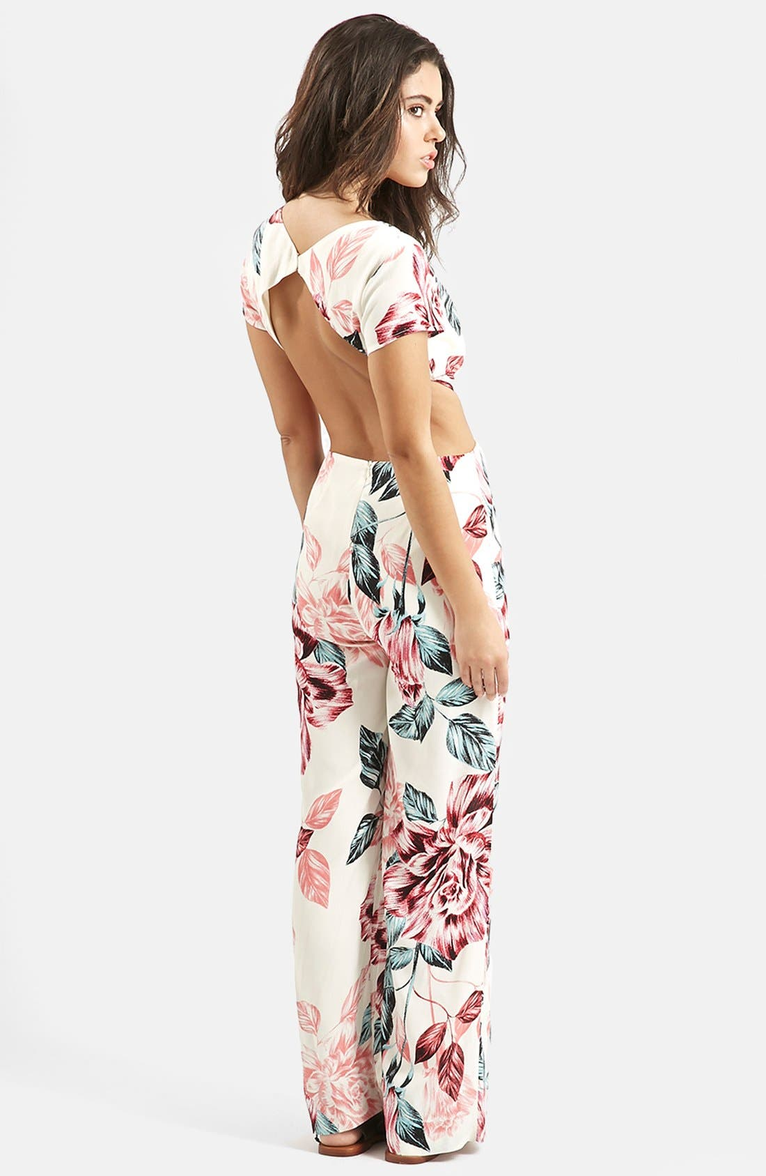 Alternate Image 2  - KENDALL + KYLIE at Topshop Floral Print Jumpsuit