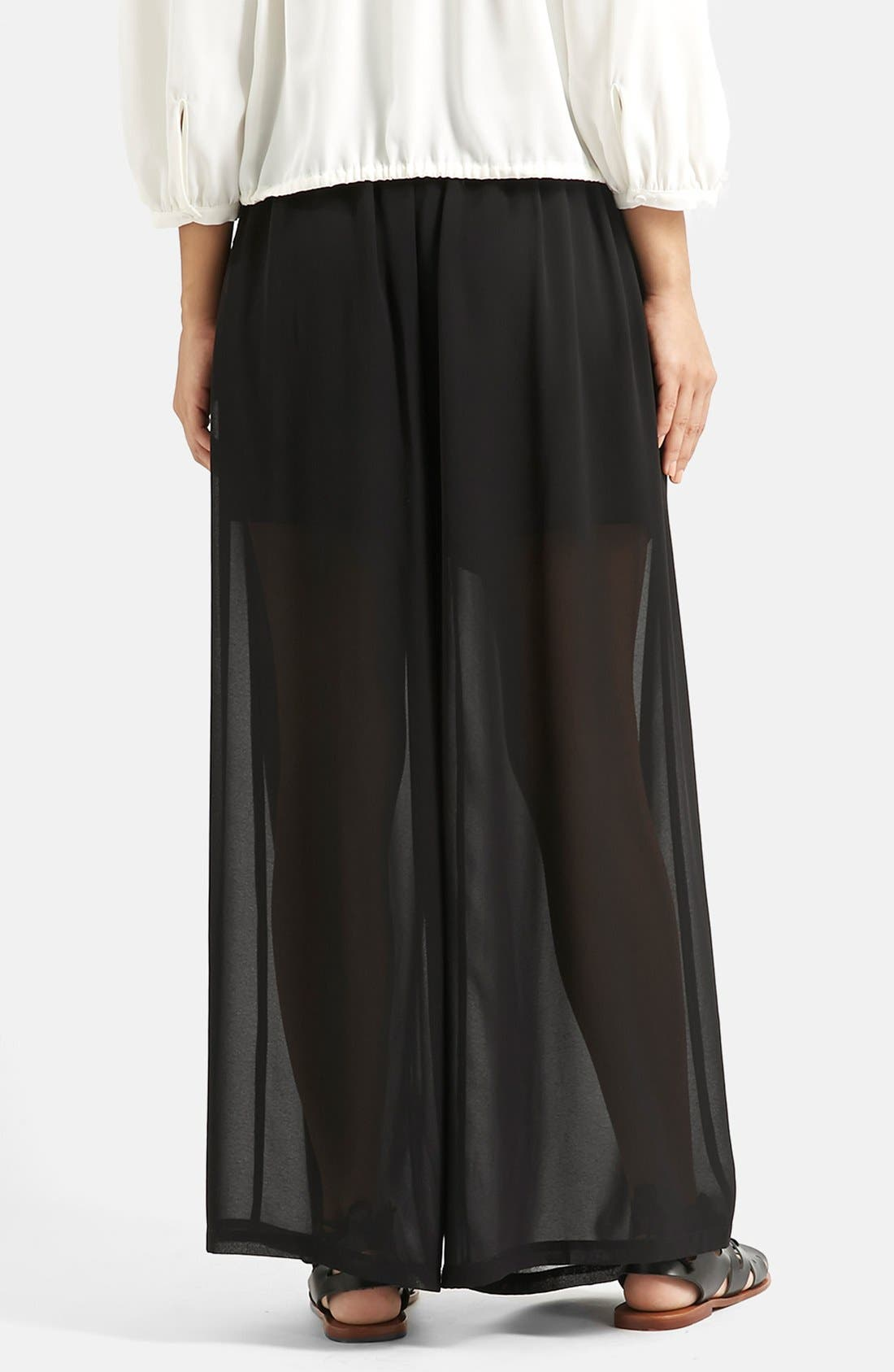 Alternate Image 3  - KENDALL + KYLIE at Topshop Wide Leg Palazzo Trousers