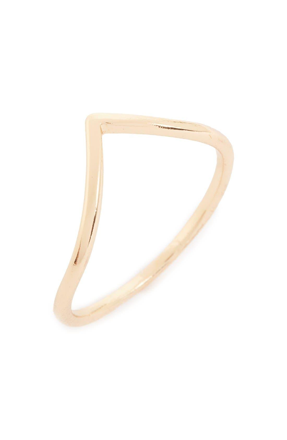Alternate Image 1 Selected - BP. Dainty Chevron Midi Ring