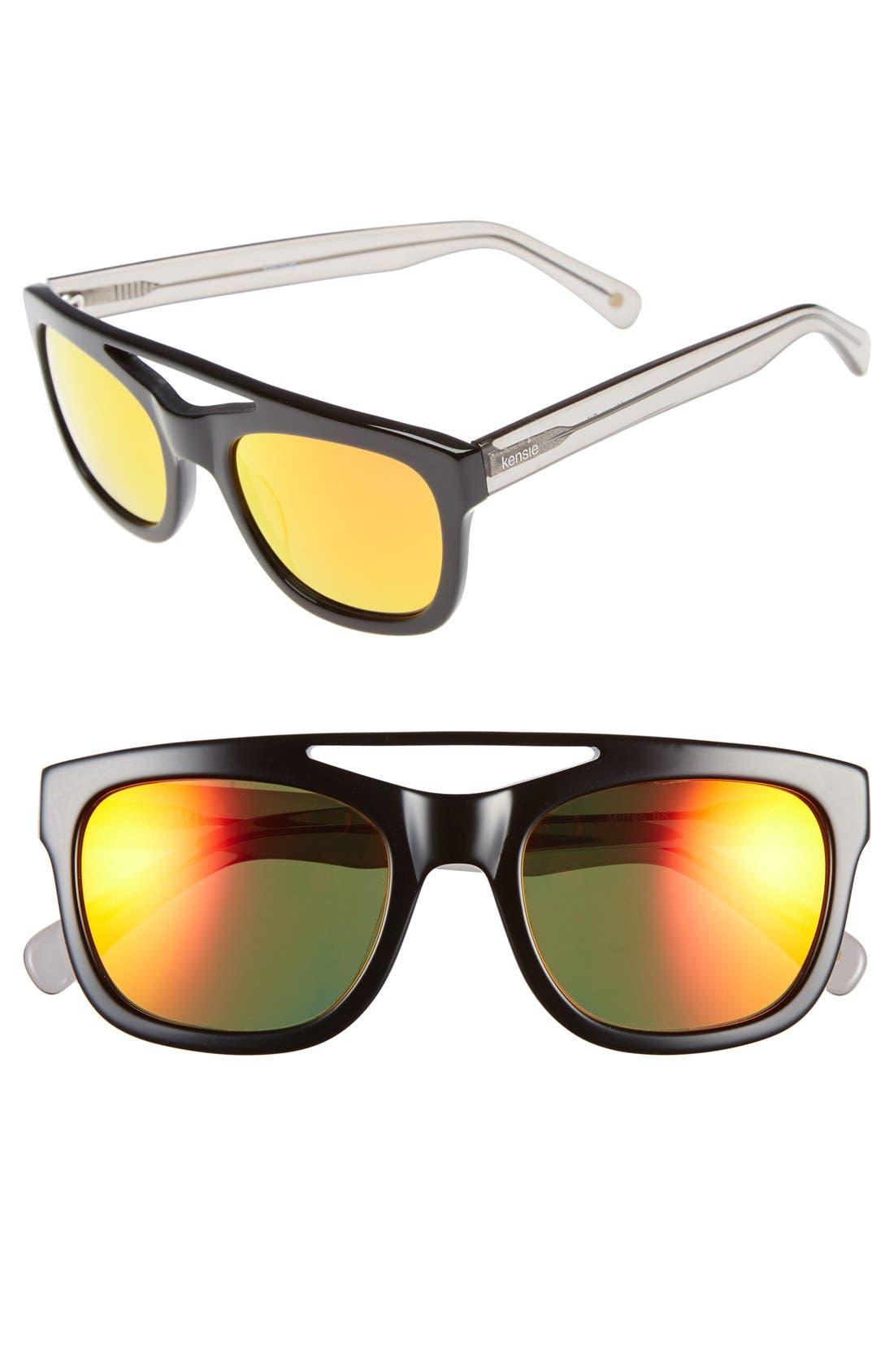 Alternate Image 1 Selected - kensie 'Mirren' 52mm Aviator Sunglasses