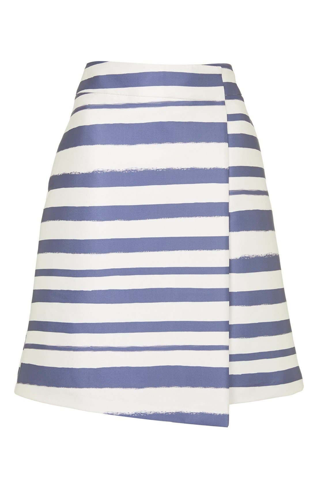 Alternate Image 4  - Topshop Stripe Midi Skirt (Nordstrom Exclusive)