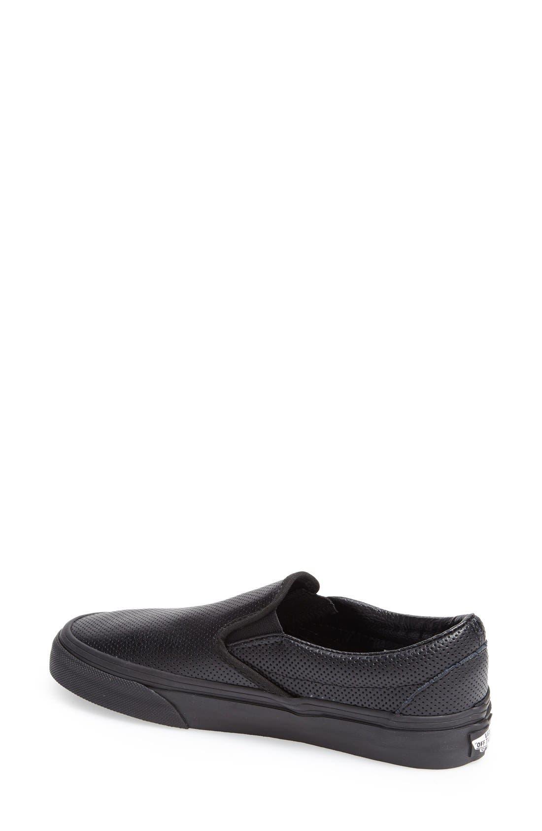 Alternate Image 2  - Vans 'Classic - Perforated' Slip-On Sneaker (Women)
