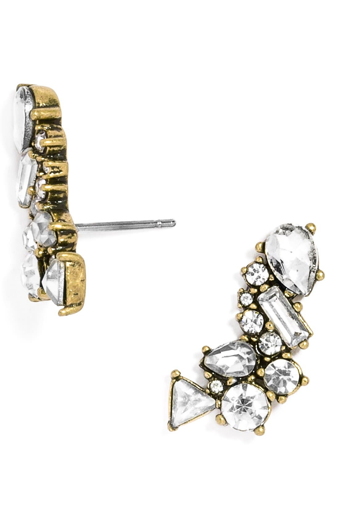 Main Image - BaubleBar Crystal Triangle Ear Crawlers